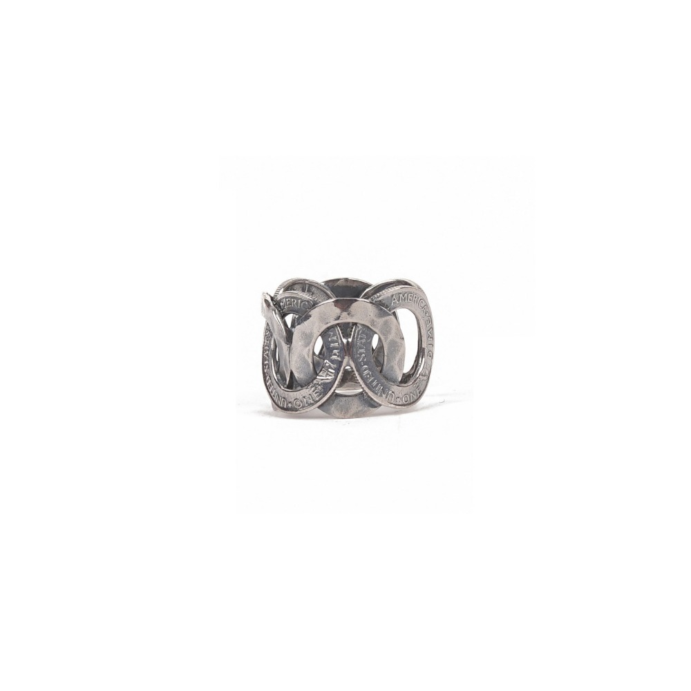 ATEASE Coin Stamp Ring