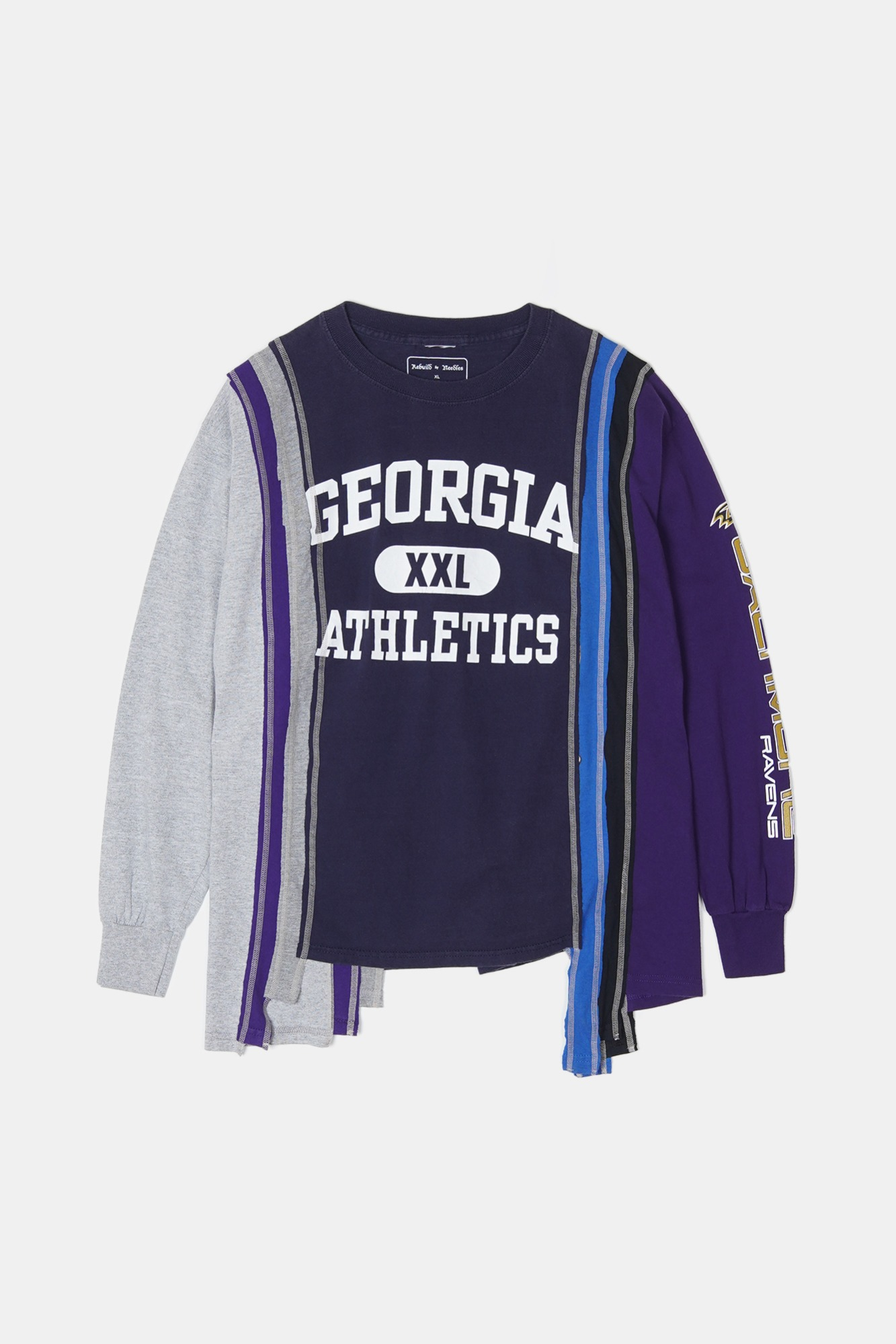 REBUILD BY NEEDLES 7 Cuts L/S College Tee 2