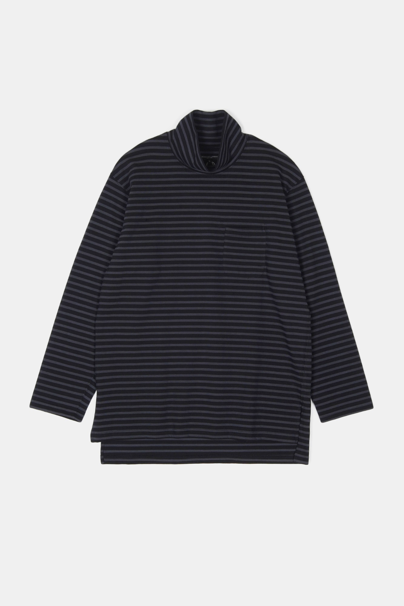 "ENGINEERED GARMENTS Mock Turtle ""Charcoal/Black PC Stripe Jersey"""
