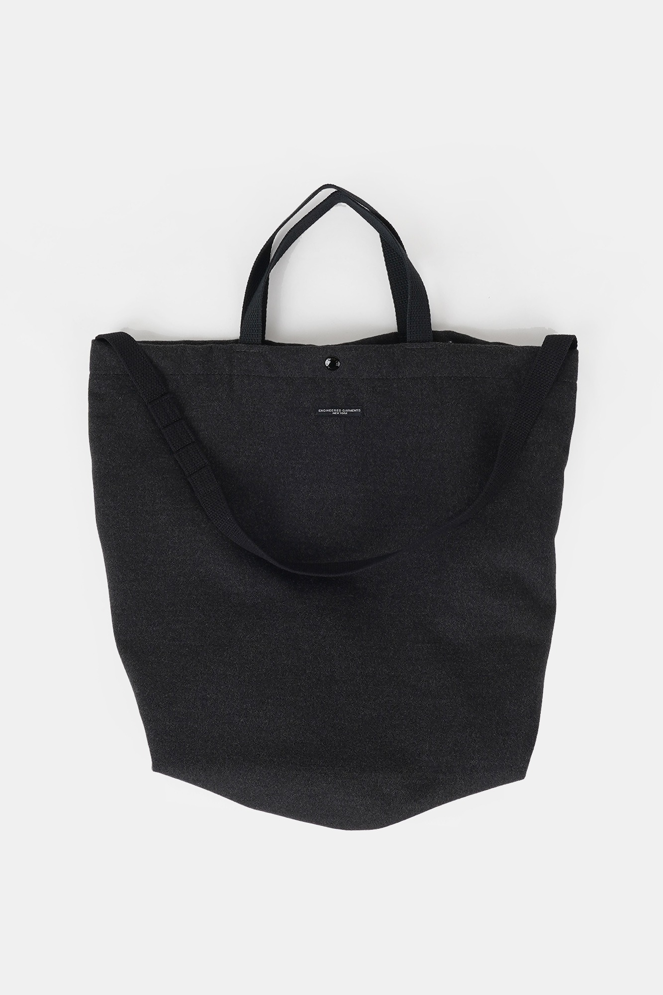 "ENGINEERED GARMENTS Carry All Tote ""Charcoal Polyester Fake Melton"""