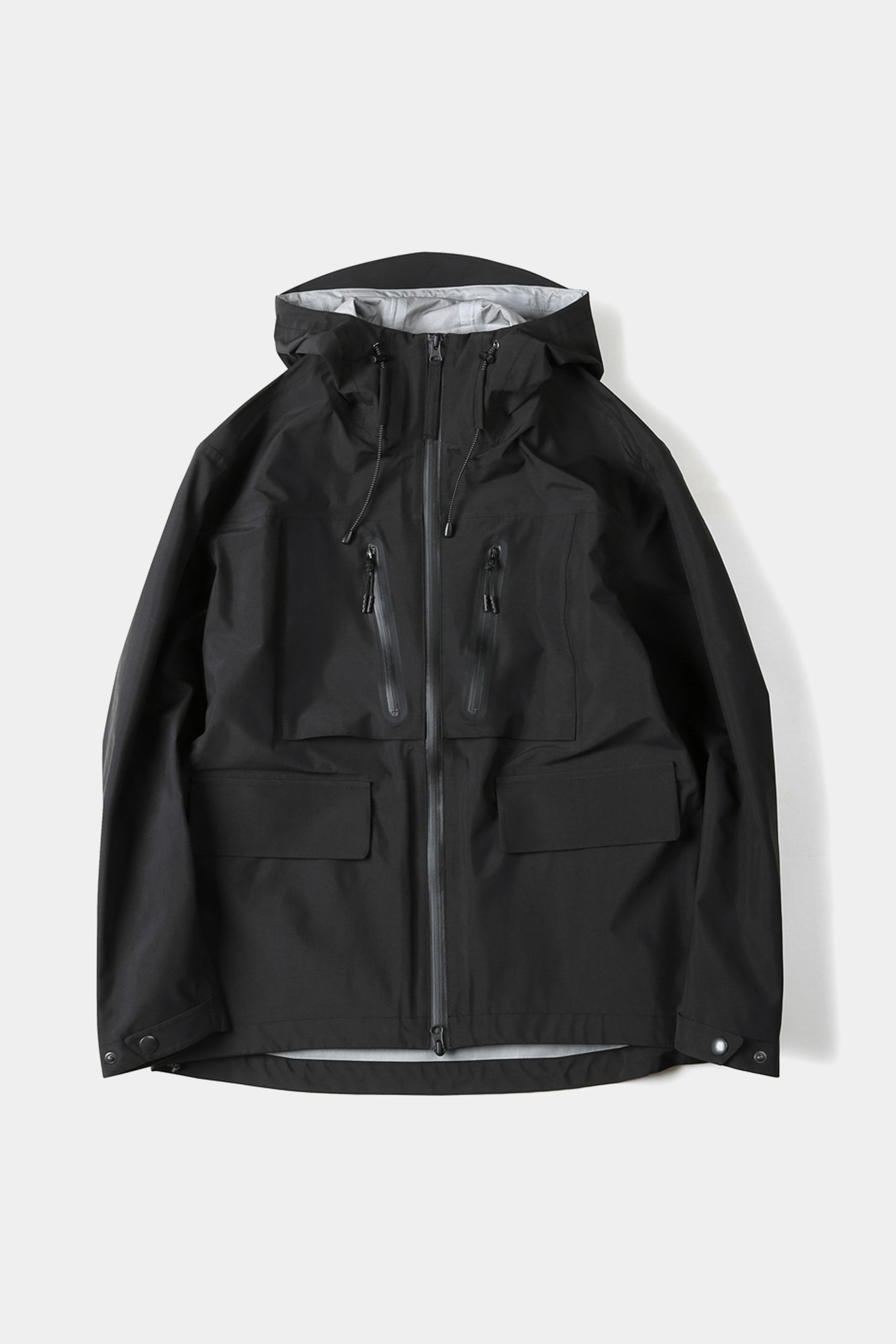 "SHIRTER 3Layer Utility Hooded Jacket ""Black"""