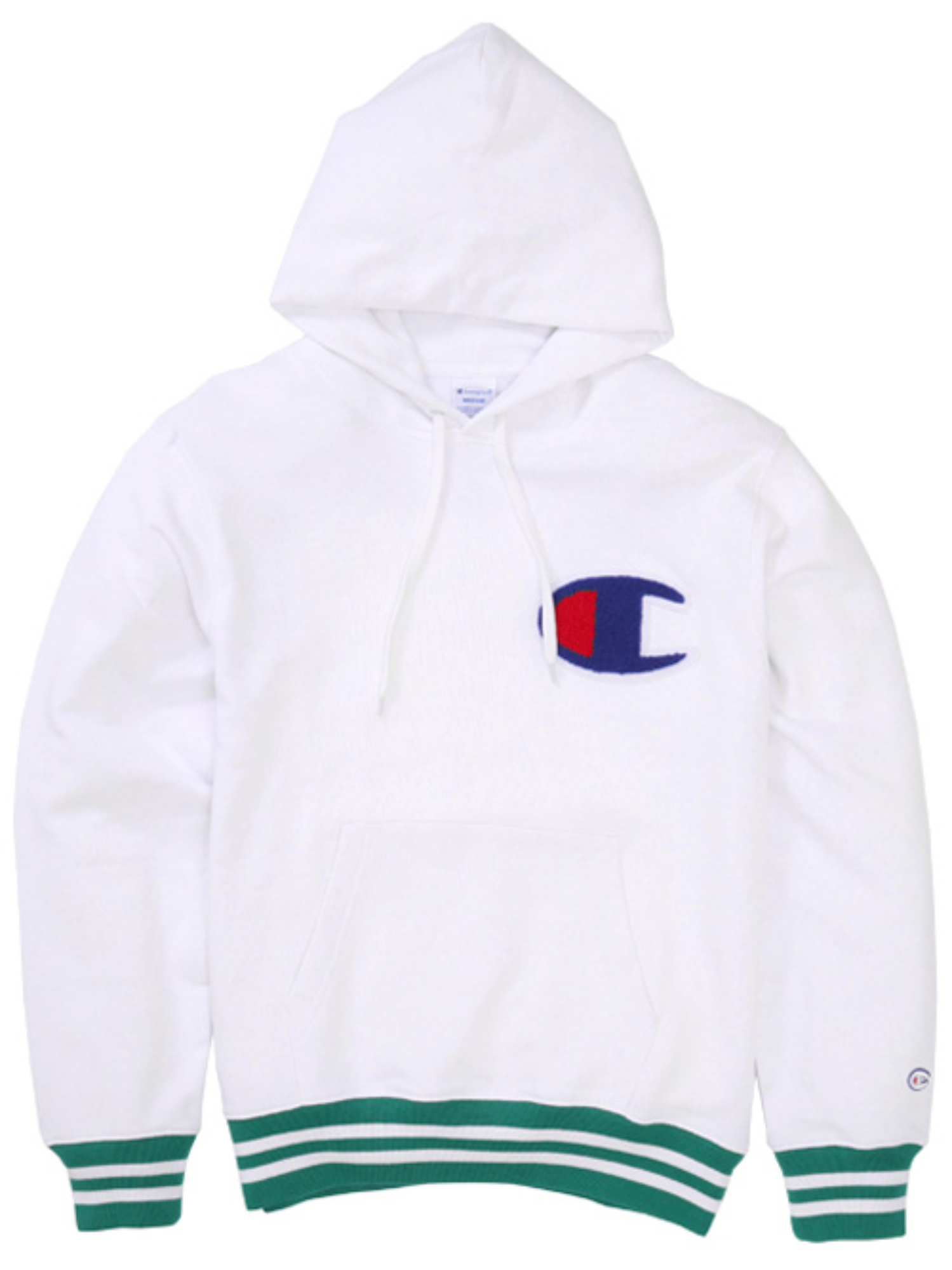 "CHAMPION Action Style Big Logo Hood Sweat C3-H108 ""White(010)"""