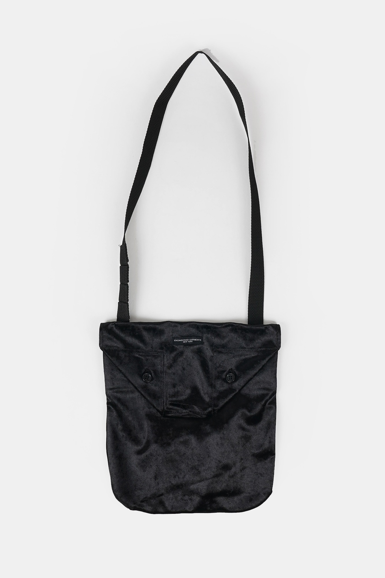 "ENGINEERED GARMENTS Shoulder Pouch ""Black Shimmer Velveteen"""