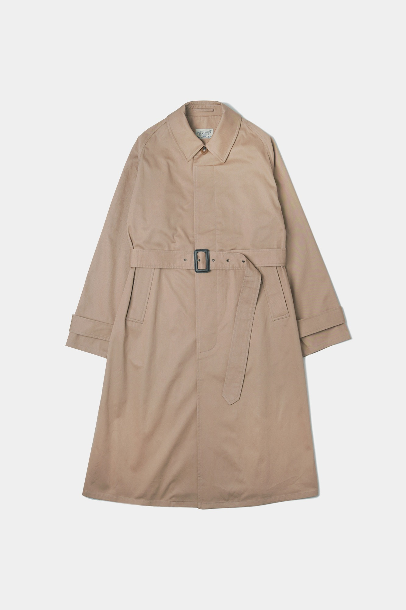 "BANTS OPD Cotton Gabardine belted balmacaan Coat ""Beige"""