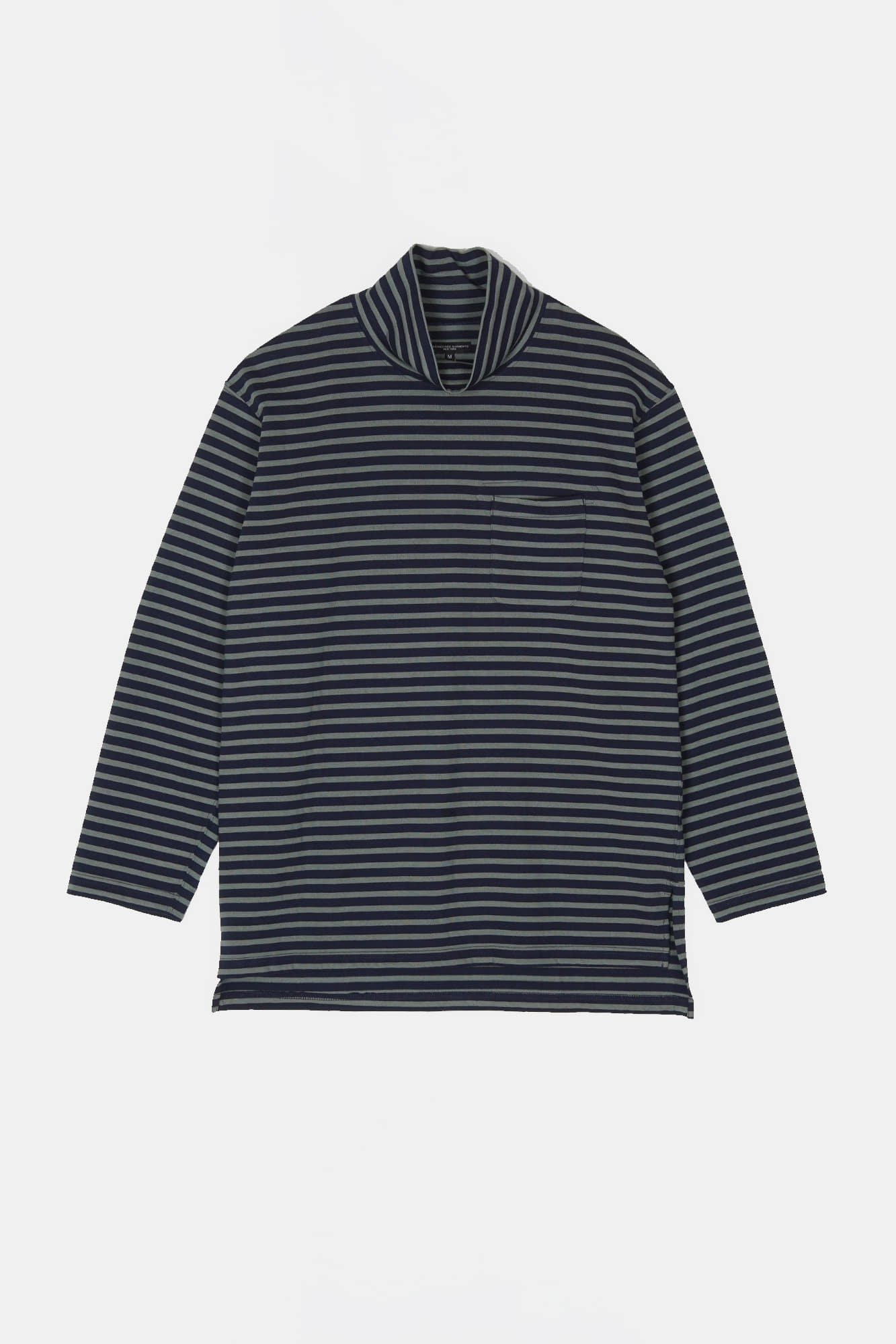 "ENGINEERED GARMENTS Mock Turtle ""Olive/Navy PC Stripe Jersey"""