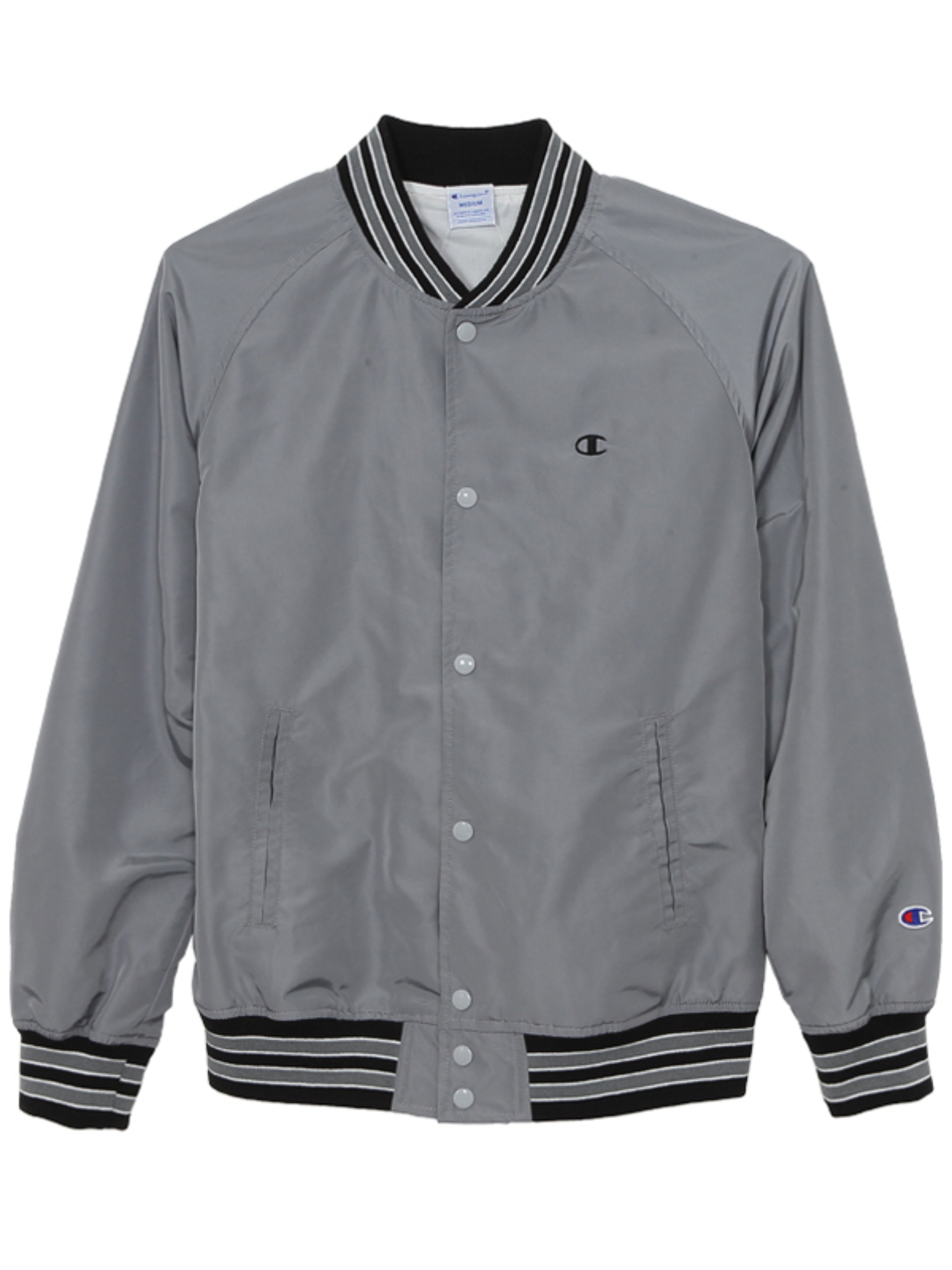 "CHAMPION Action Style Snap Jacket C3-H604 ""Grey(050)"""
