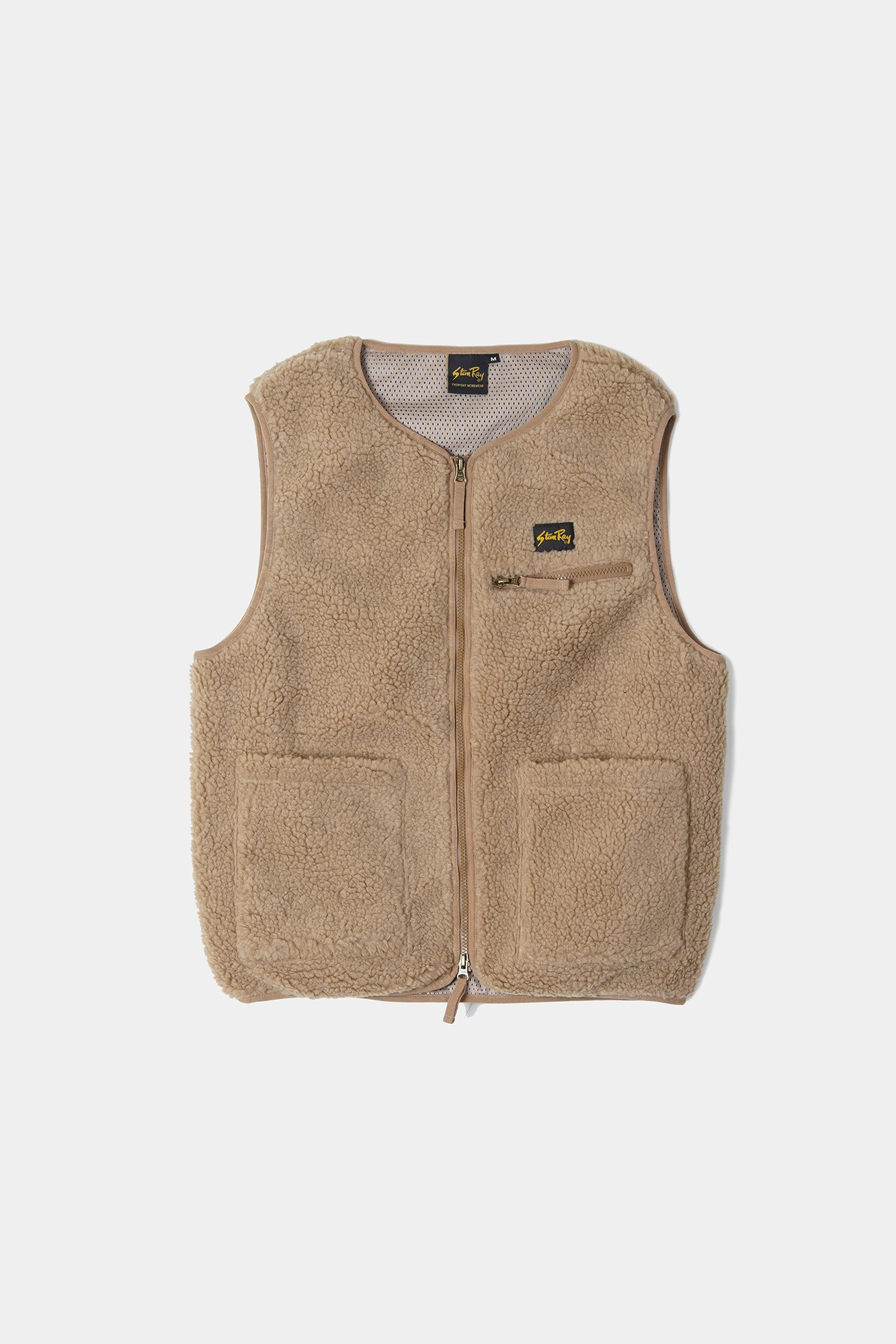 "STAN RAY Fleece Liner Vest ""Khaki Boa Fleece"""