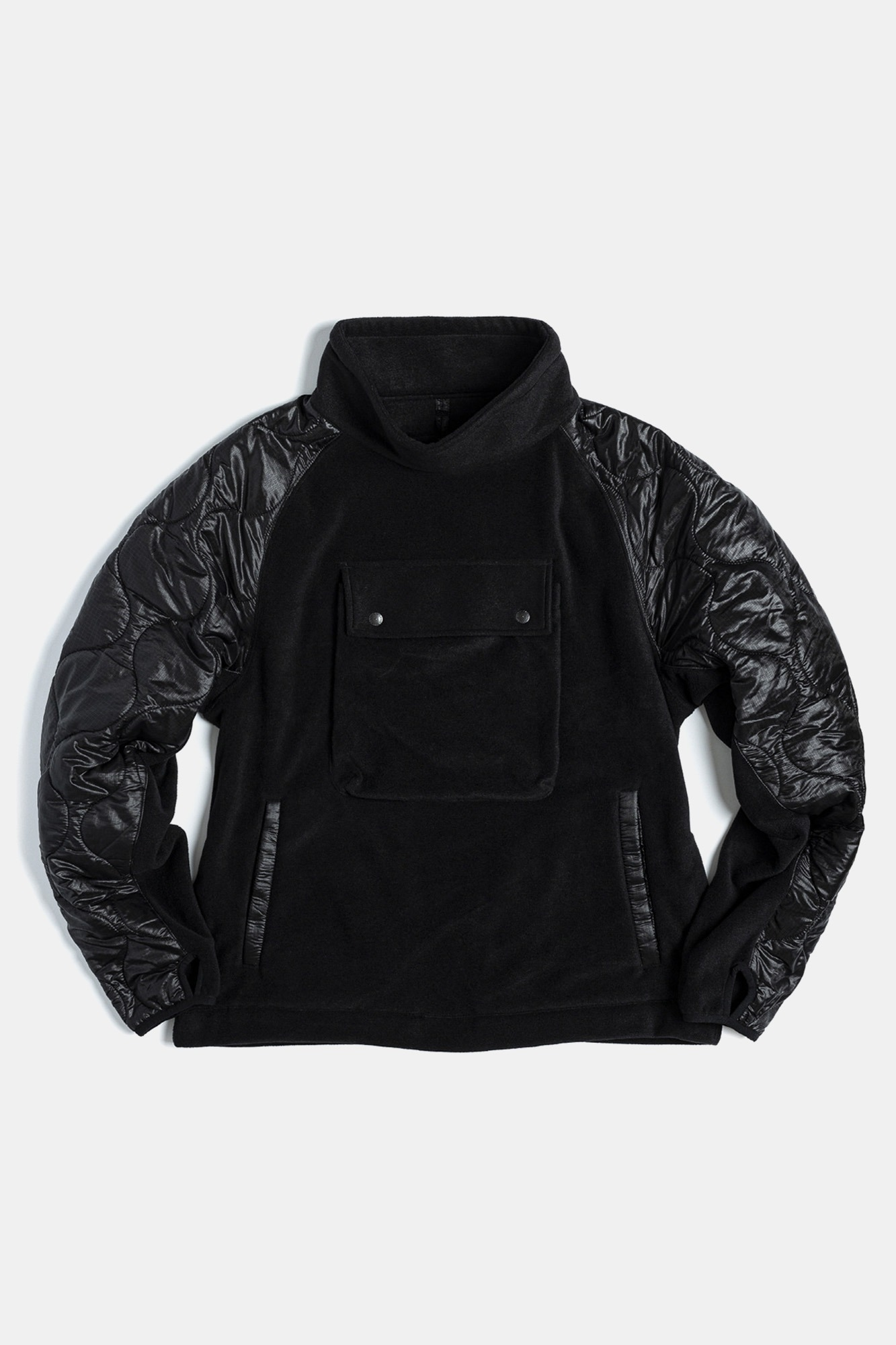 "EASTLOGUE Quilting Pullover Jumper ""Black"""