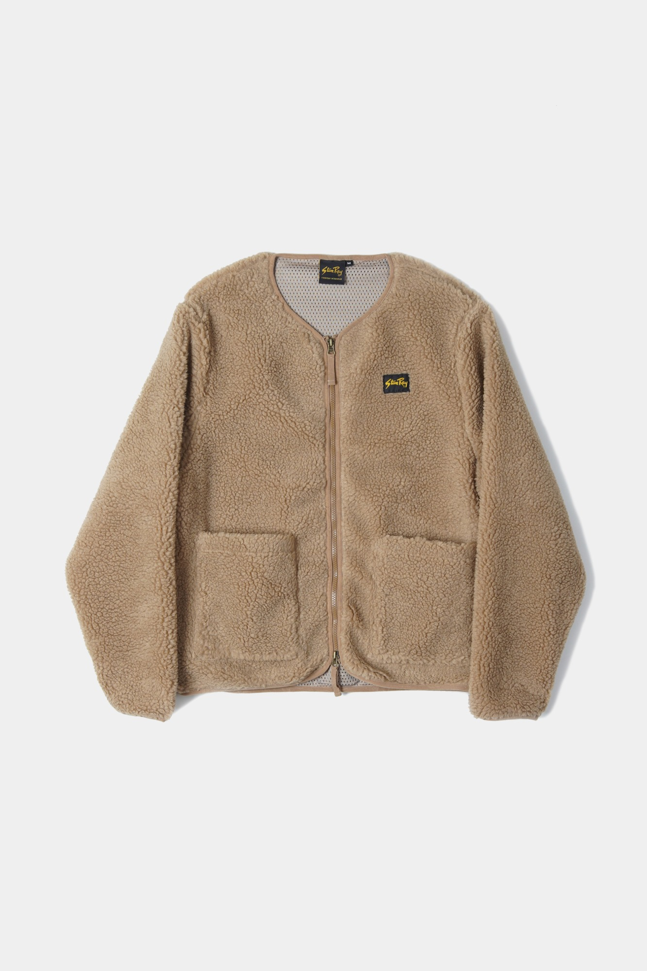 "STAN RAY Fleece Layer Cardigan ""Khaki Boa Fleece"""