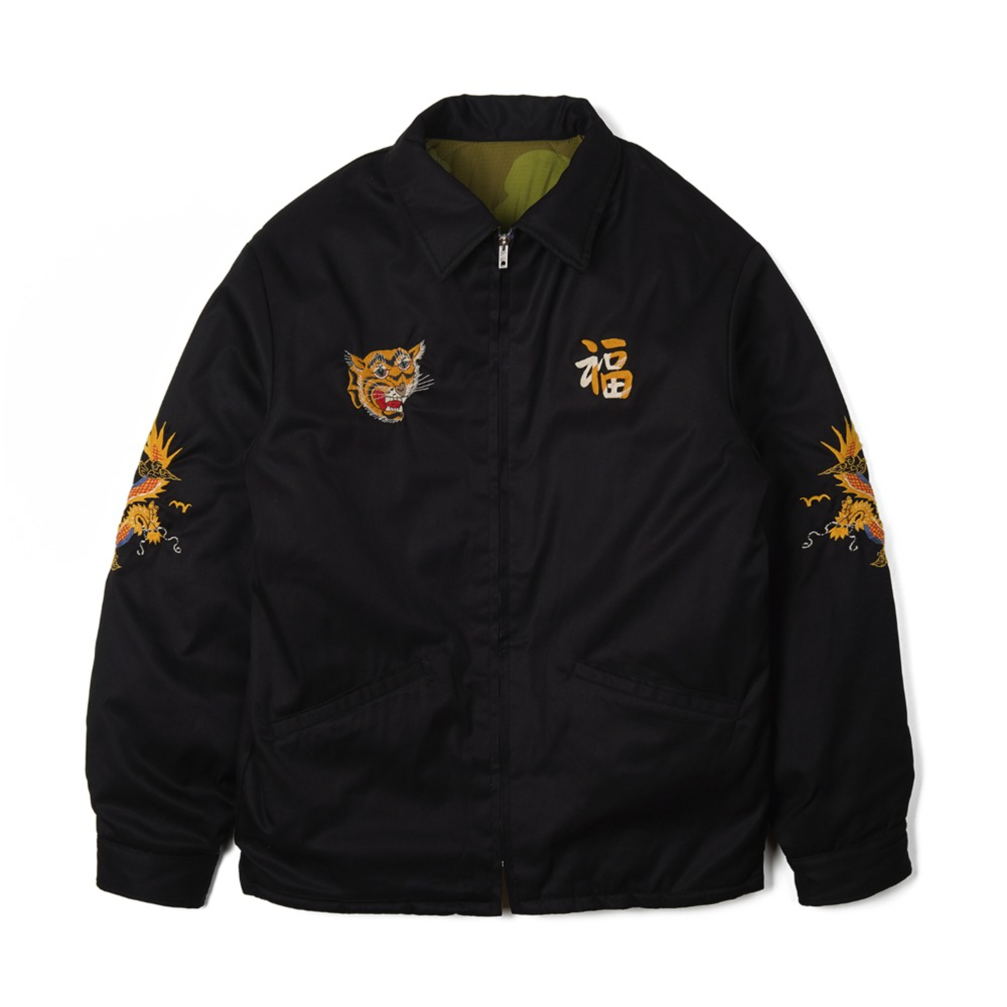 "TAILOR TOYO Reversible Vietnam Jacket VIETNAM MAP X DRAGON ""Black"""