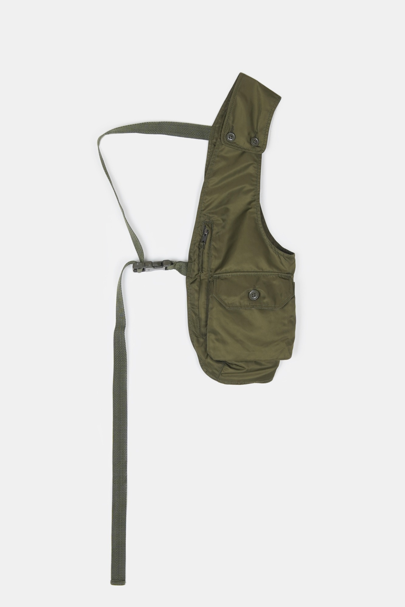 "ENGINEERED GARMENTS Shoulder Vest ""Olive Flight Satin Nylon"""