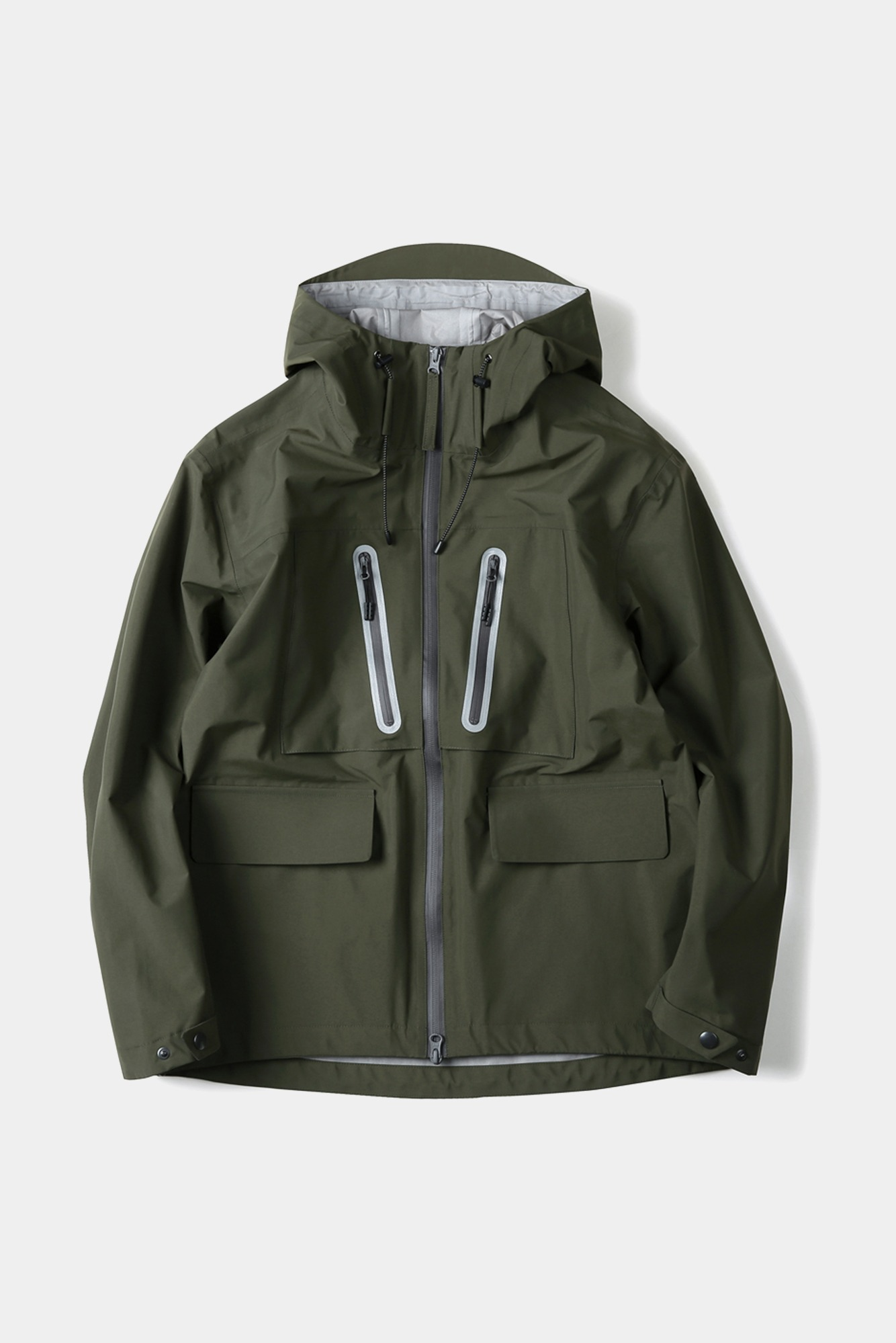 "SHIRTER 3Layer Utility Hooded Jacket ""Olive"""