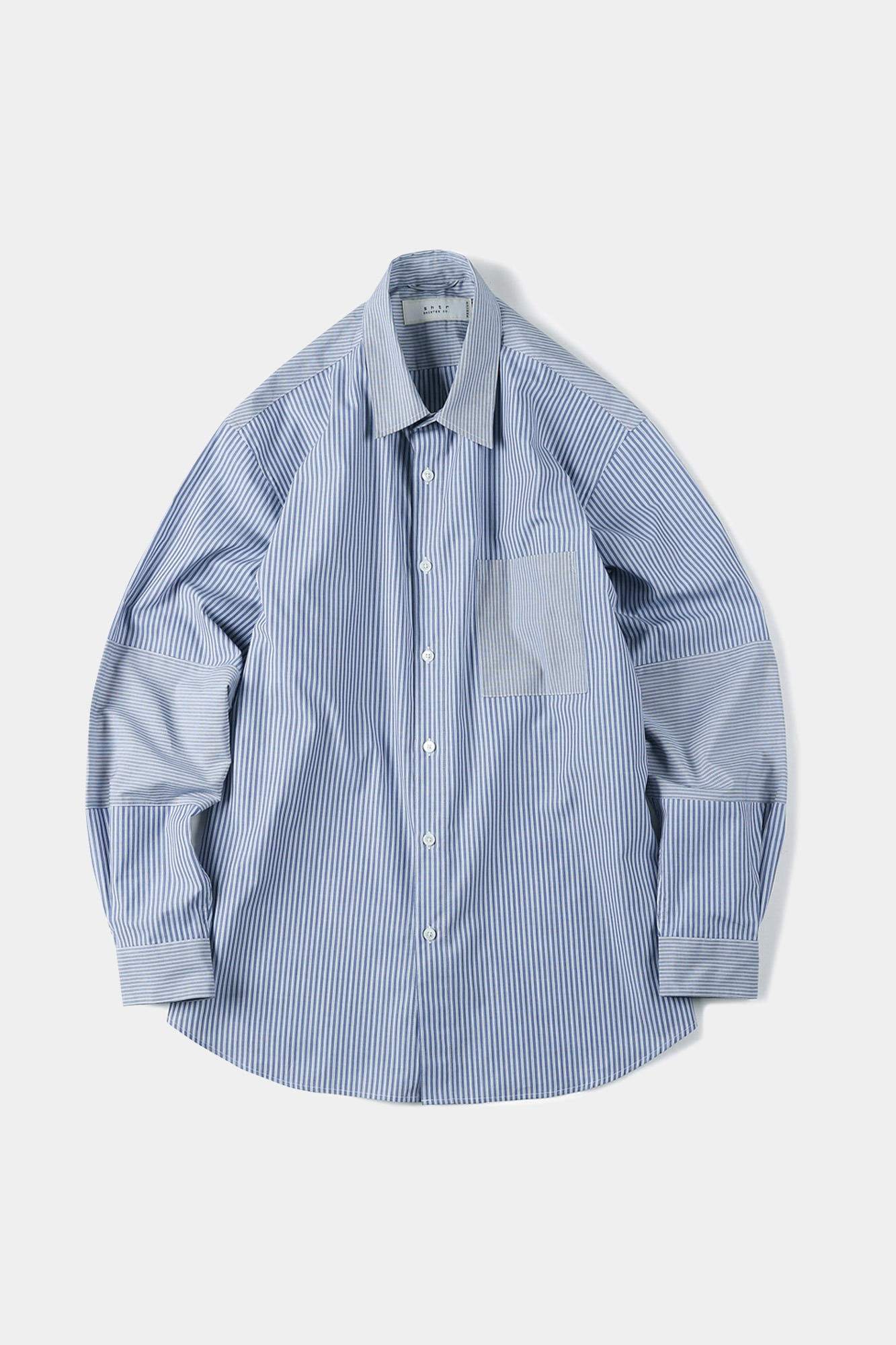 "SHIRTER Mixed Stripe Shirt ""Blue"""