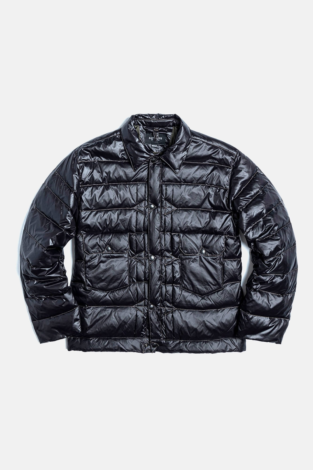 "EASTLOGUE Trucker Light  Down Jacket ""Black Nylon"""
