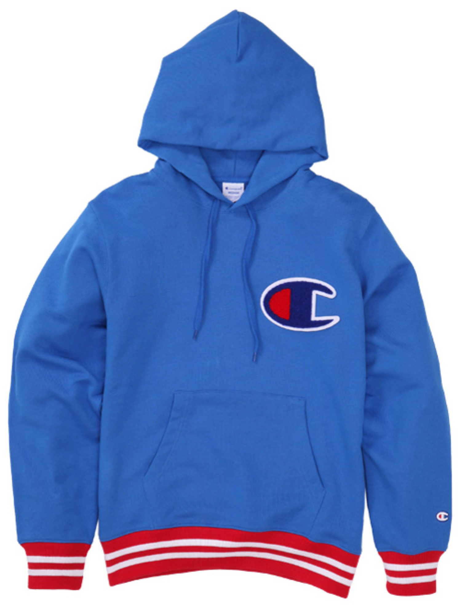 "CHAMPION Action Style Big Logo Hood Sweat C3-H108 ""Blue(327)"""