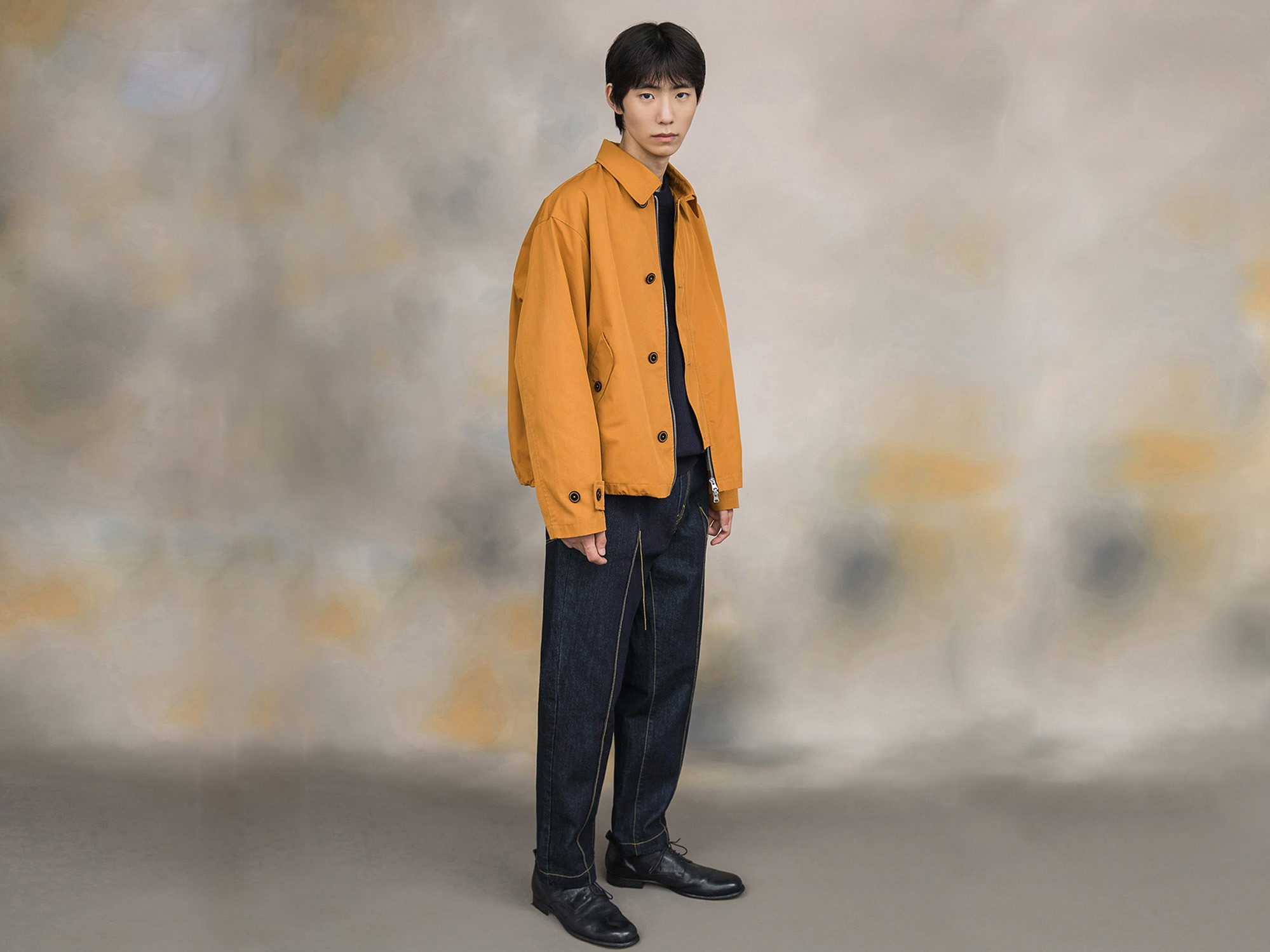 "★SHIRTER High Density Twill Gabardine Jacket ""Mustard"""