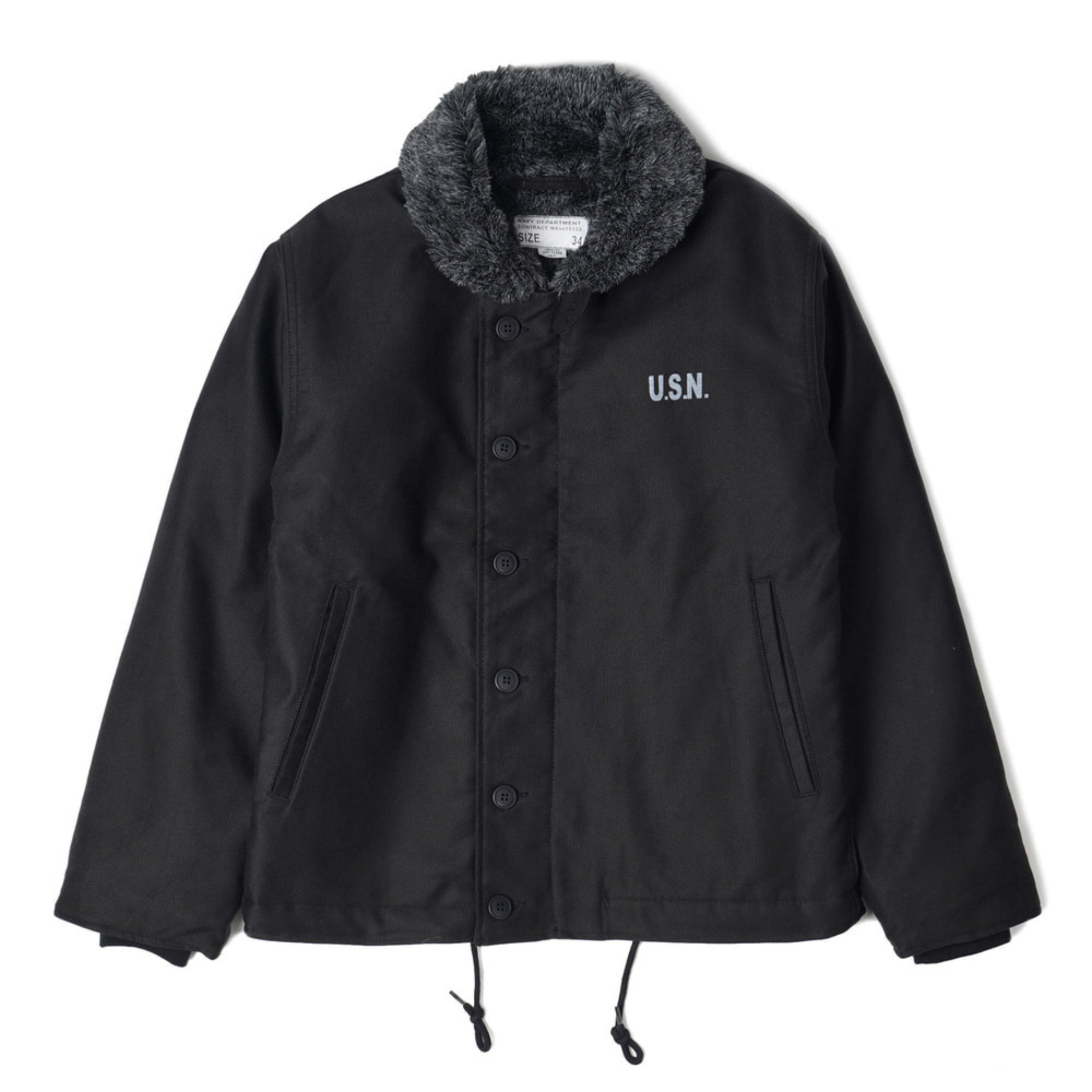 "YMCL KY USN N-1 Deck Jacket ""Black"""