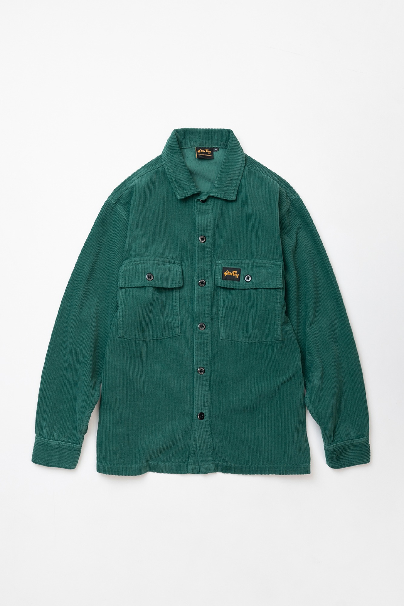 "STAN RAY Cord CPO Shirt ""Indian Green Cord"""