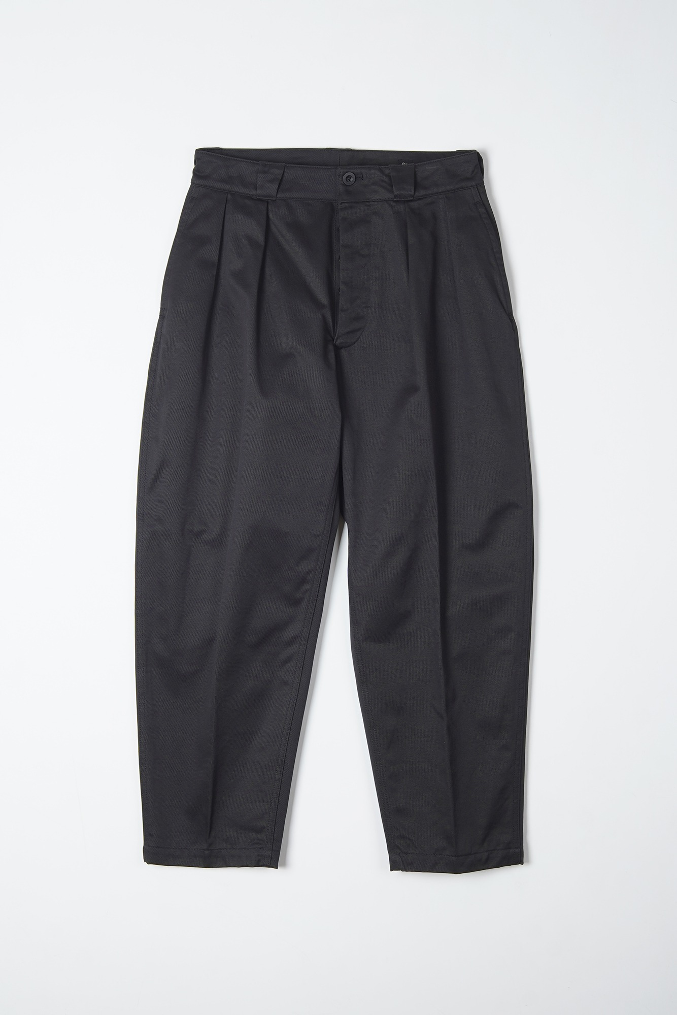 "KAPTAIN SUNSHINE 2Pleats Tapered Trousers ""Black"""