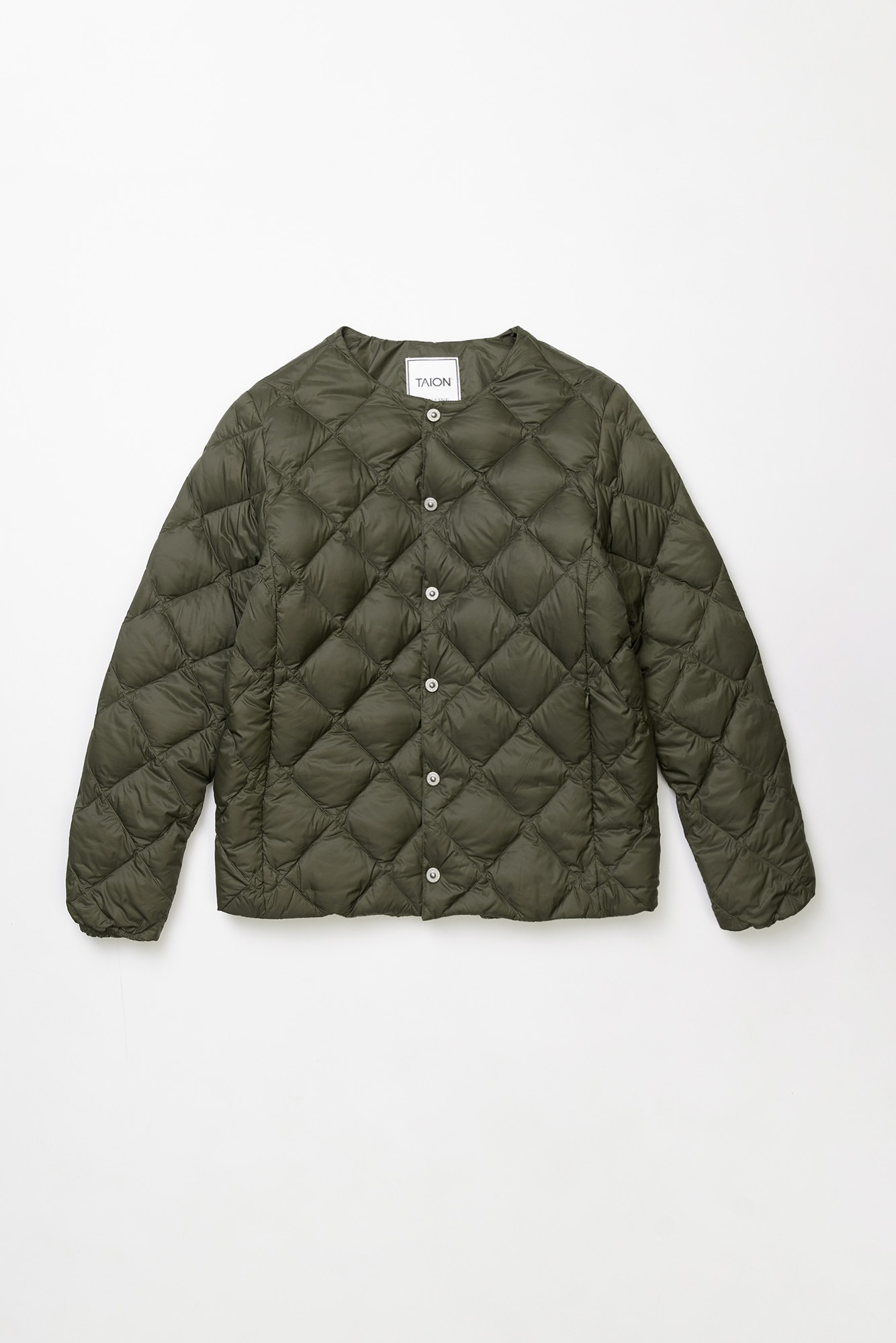 "TAION Crew Neck Down Jacket ""Olive"""