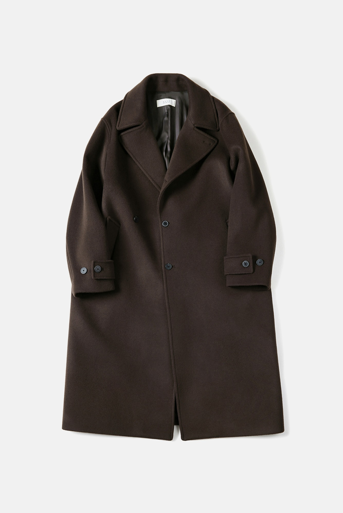 "SHIRTER Fine Master Wool Double Coat ""Dark Brown"""