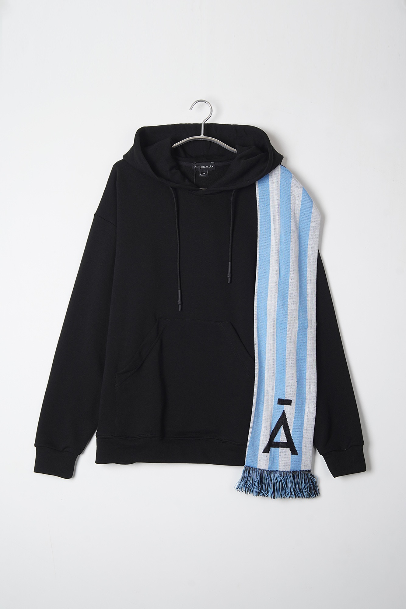 "DAVID CATALAN Scarf Hoddie ""Black"""