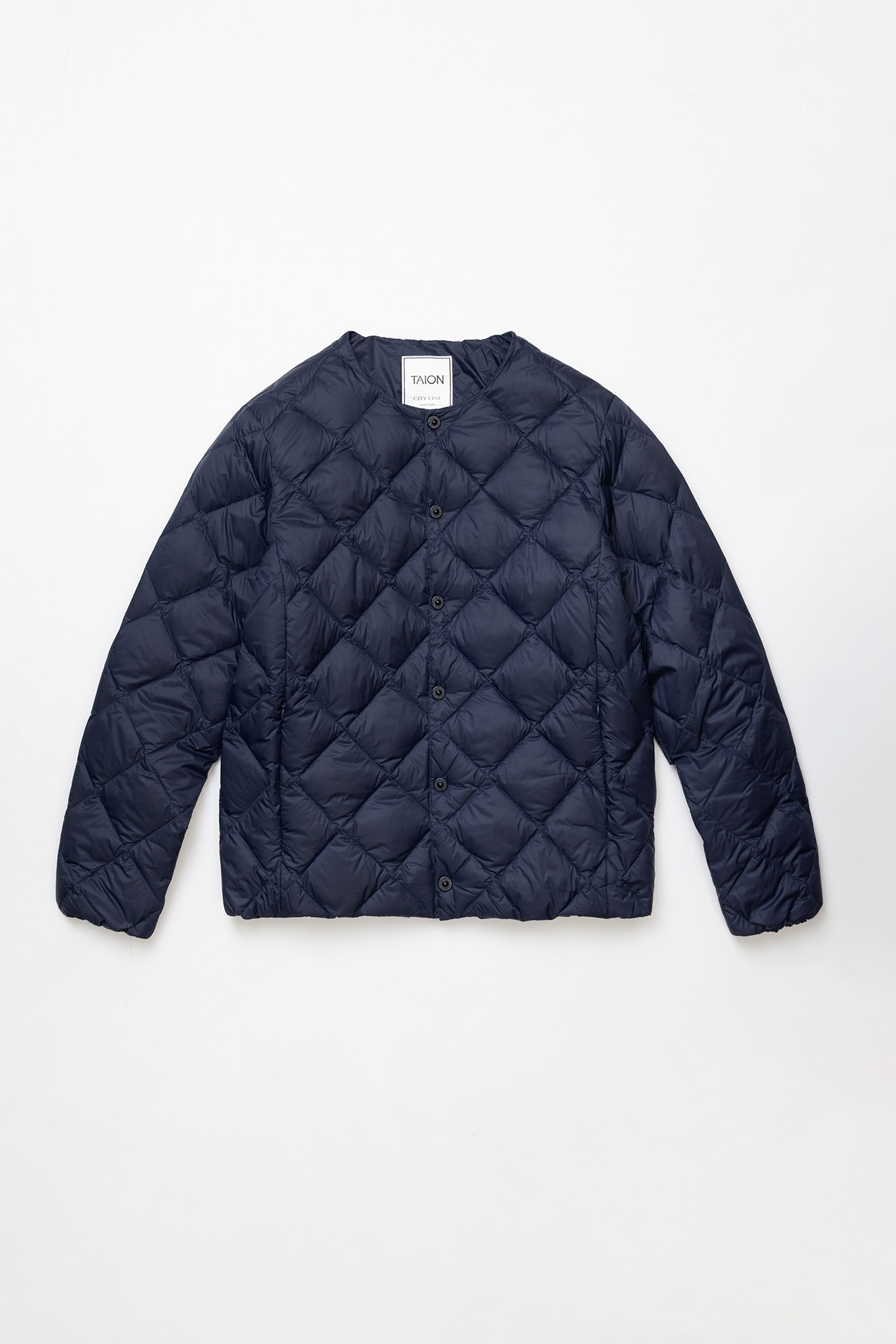 "TAION Crew Neck Down Jacket ""Navy"""