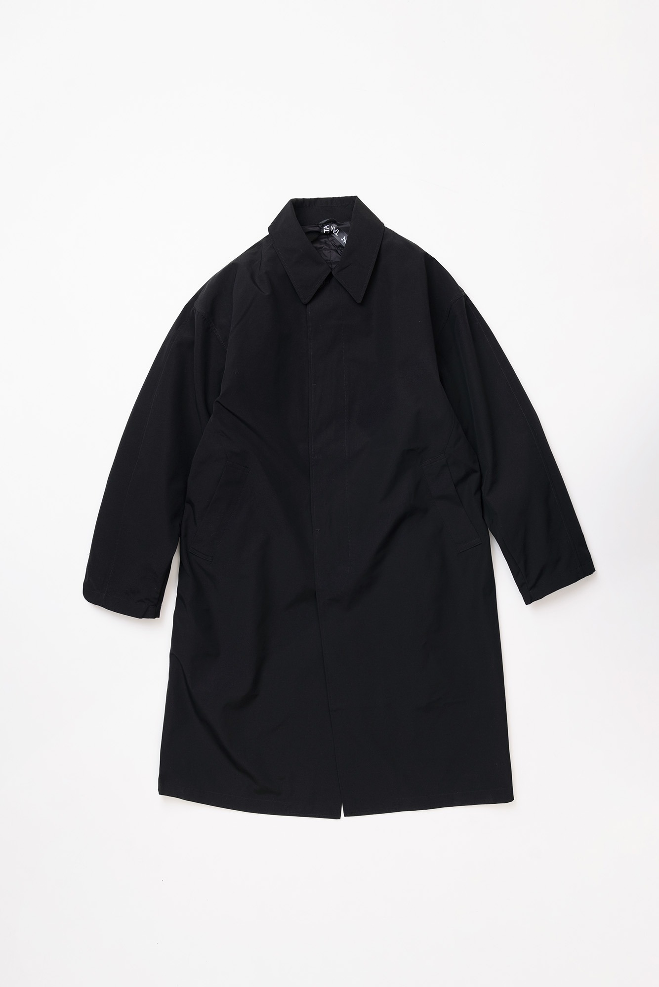"TAION CR Bal Collar Coat Set ""Black/Black"""