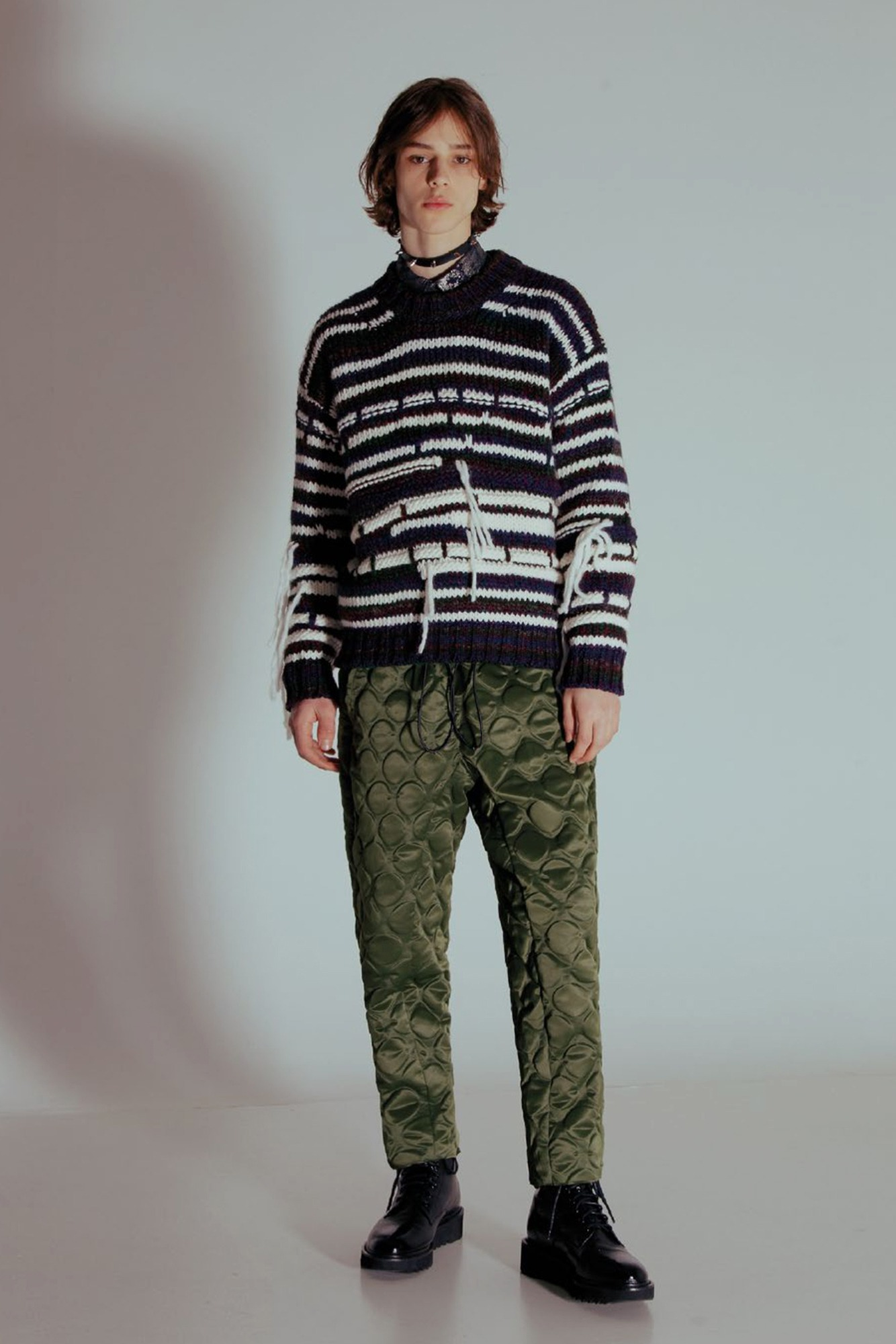 "★CORELATE Striped knitted jumper ""Mix"""