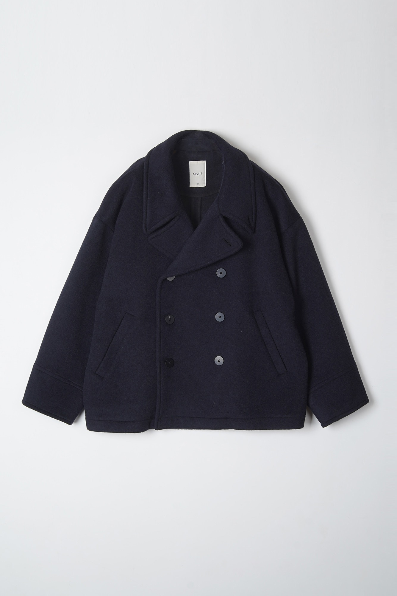 "Noclé Oversized Pea Coat ""Navy"""