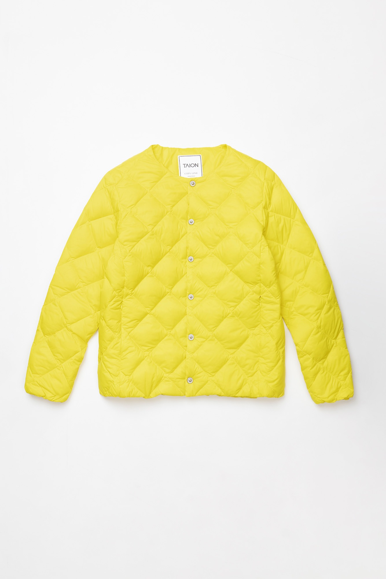 "TAION Crew Neck Down Jacket ""Yellow"""