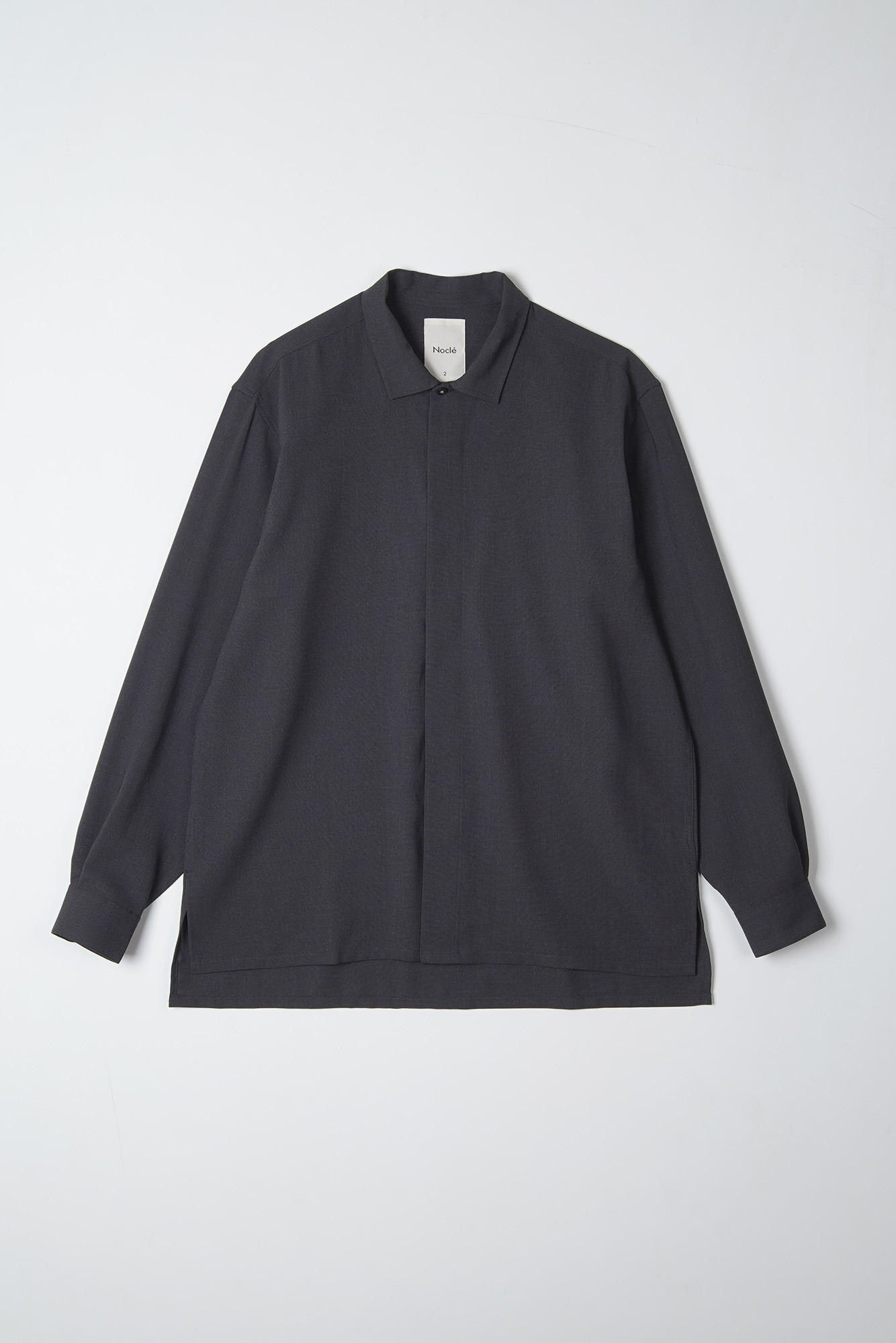 "Noclé Hidden Minimal Shirts ""Charcoal"""