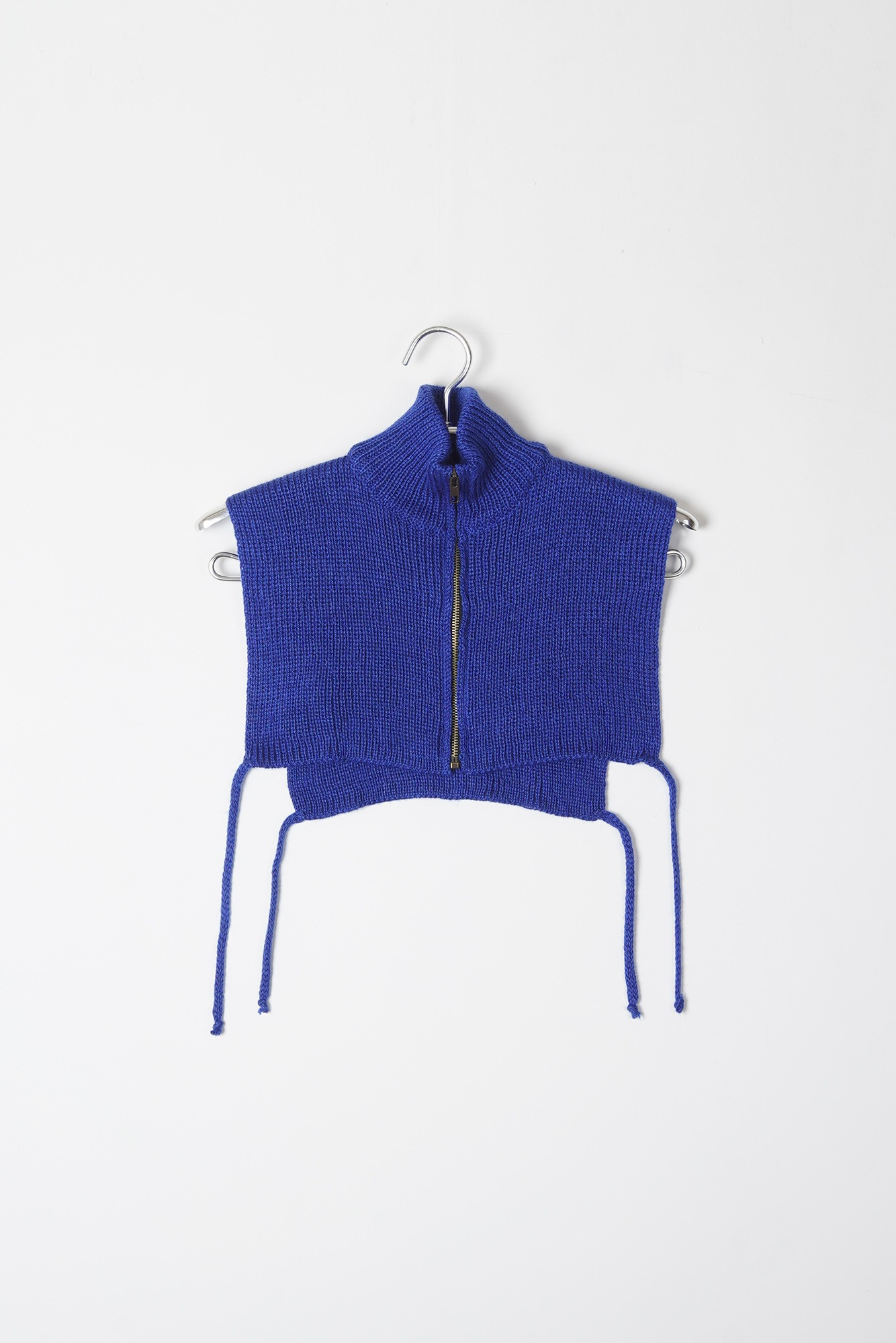 "DAVID CATALAN Turtleneck Knit Vest ""Blue"""