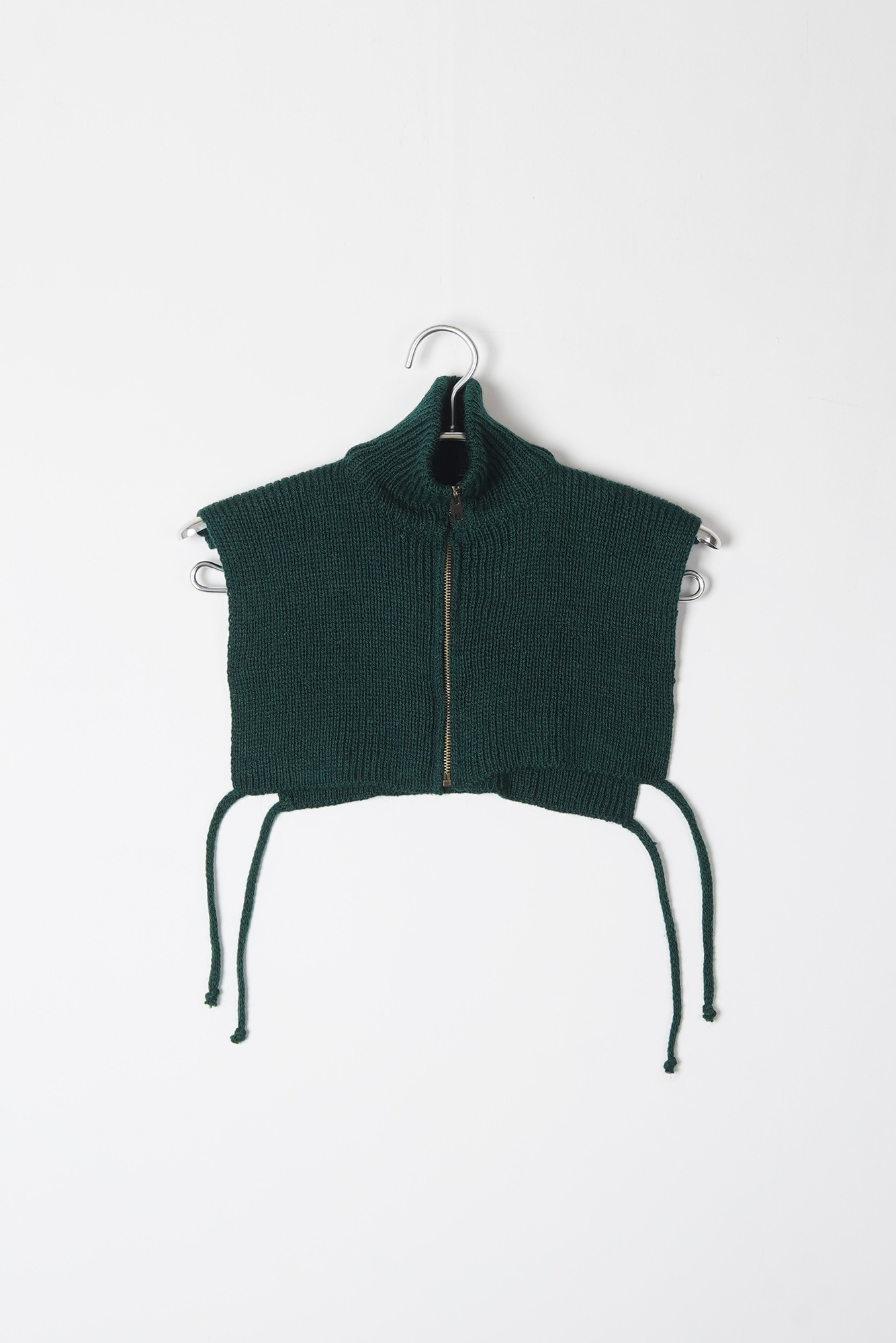 "DAVID CATALAN Turtleneck Knit Vest ""Green"""