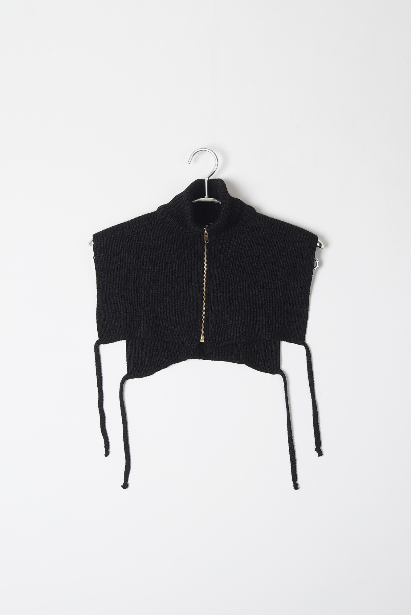 "DAVID CATALAN Turtleneck Knit Vest ""Black"""
