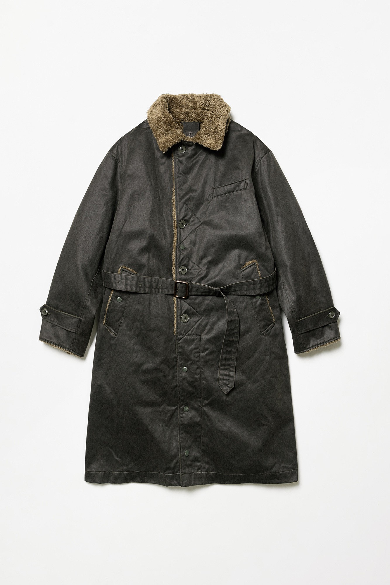 "ENGINEERED GARMENTS Storm Coat ""Dk. Olive Coated Twill"""