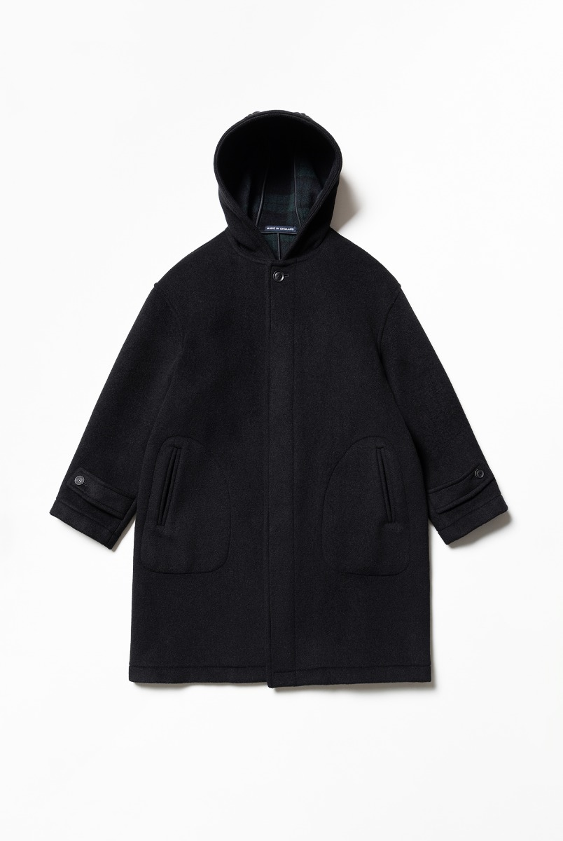 "LONDON TRADITION Seaton Mens Oversize Coat ""Black BW"""