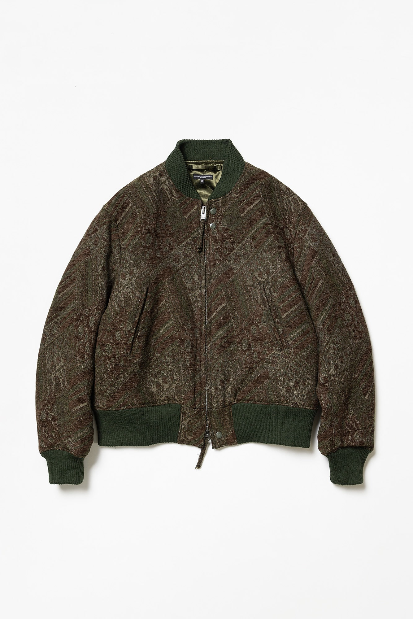"ENGINEERED GARMENTS SVR jacket ""Olive/Brown Chenille"""