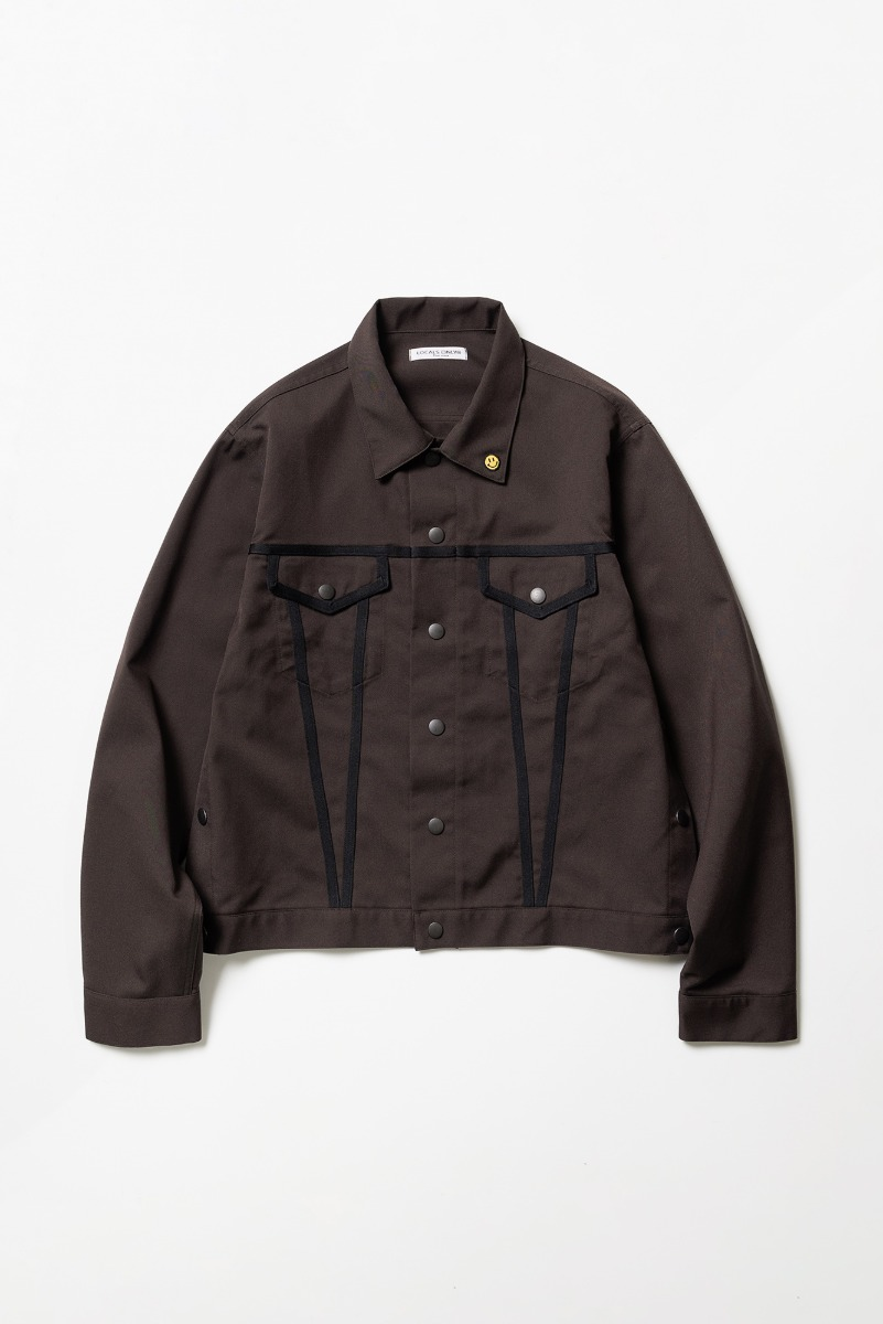 "LOCALS ONLY Side Line Trucker Jacket ""Brown/Black"""