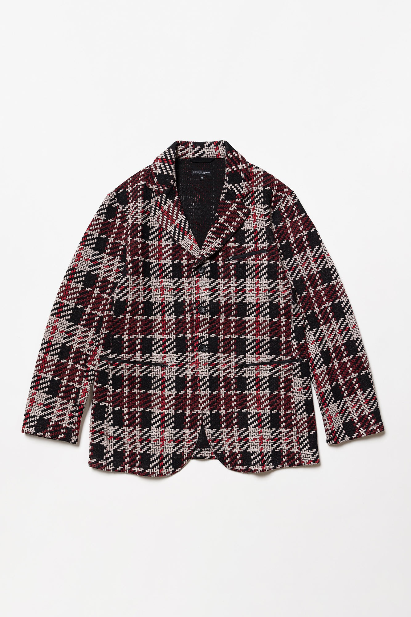 "ENGINEERED GARMENTS Leisure Jacket ""Black/Red Tweed Knit"""