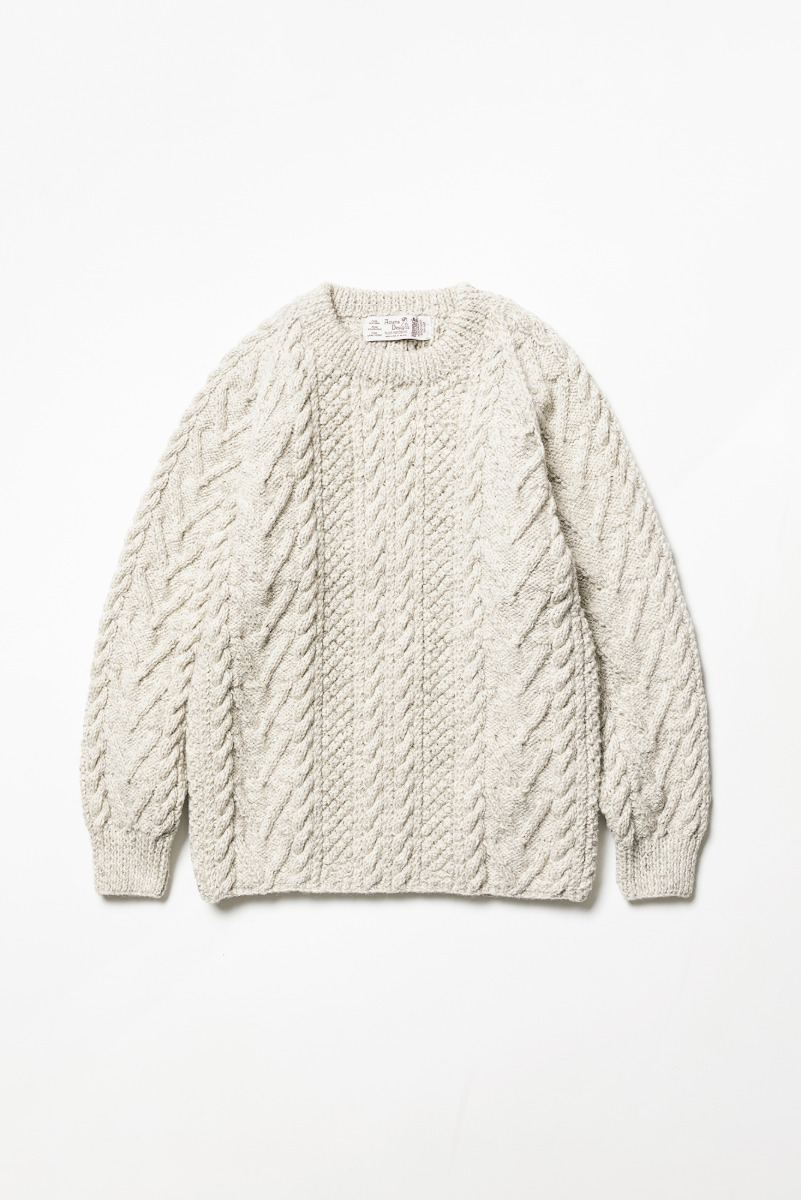 "ATHENA DESIGNS Cable Knit Sweater ""Oatmeal"""