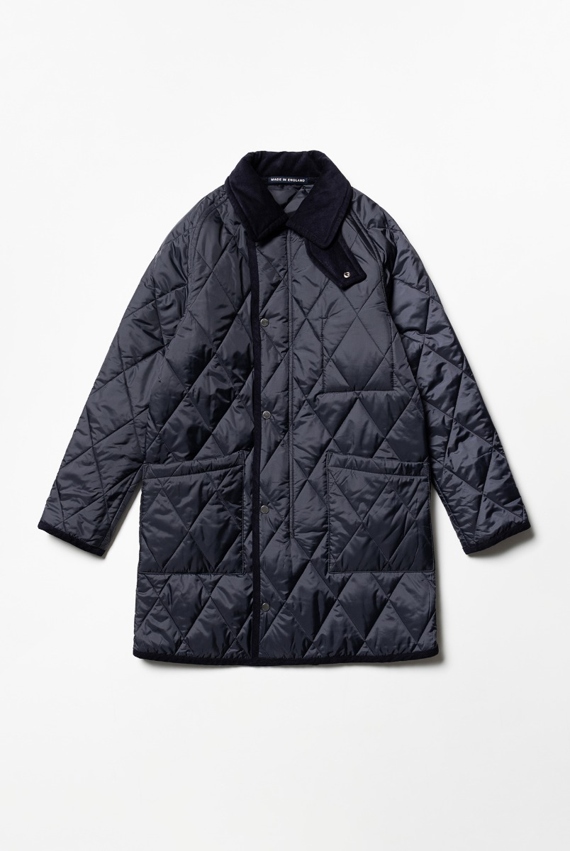 "LONDON TRADITION Connor Mens Quilt With Zip ""Suffolk Navy"""