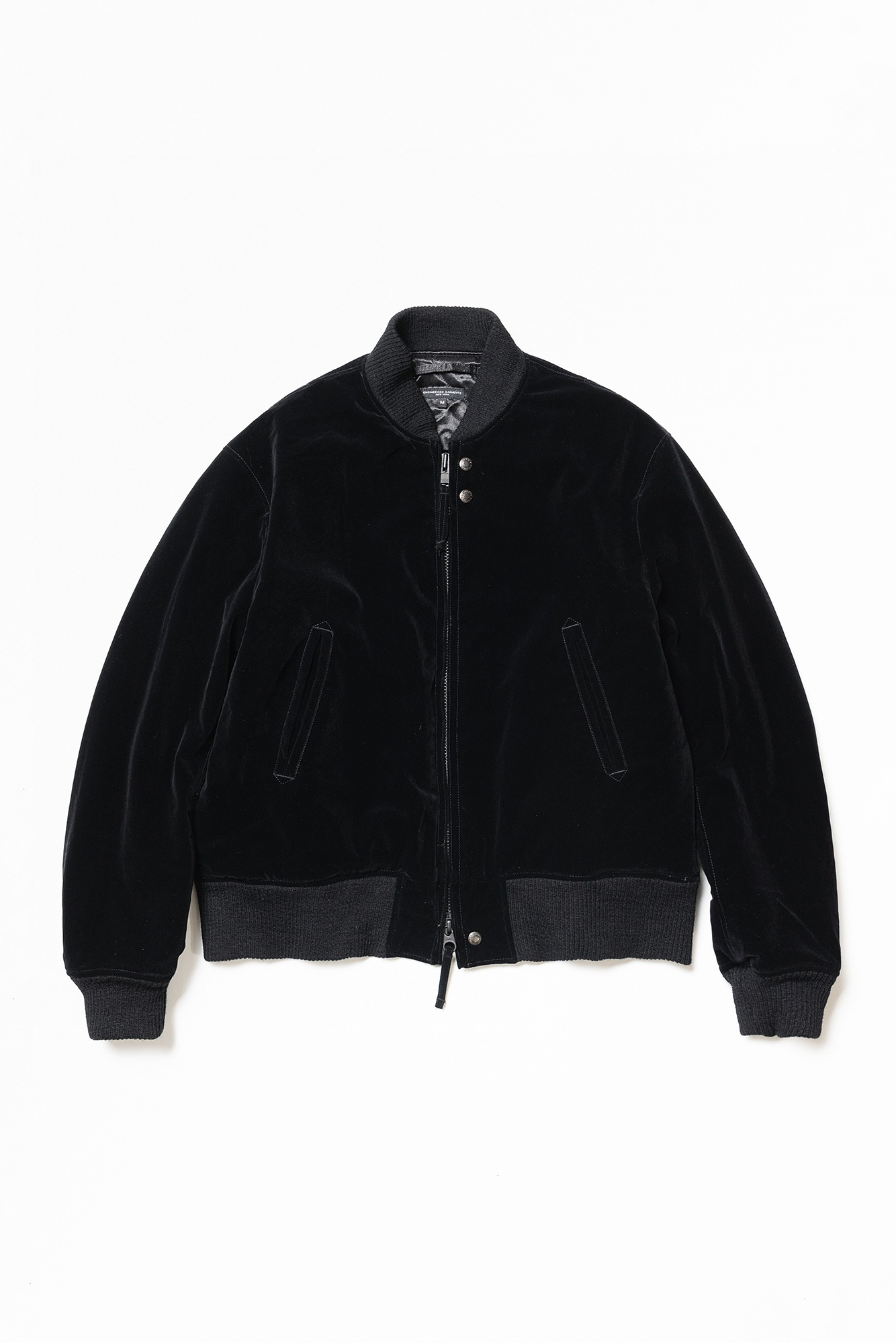 "ENGINEERED GARMENTS SVR jacket ""Black Flocked Velveteen"""