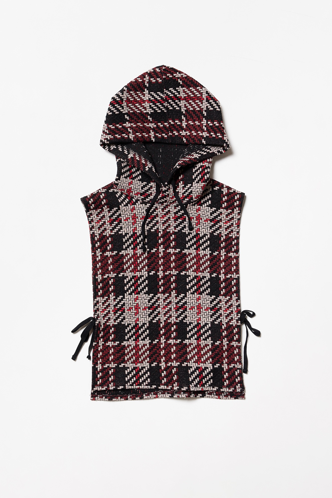 "ENGINEERED GARMENTS Hooded Interliner ""Black/Red Tweed Knit"""