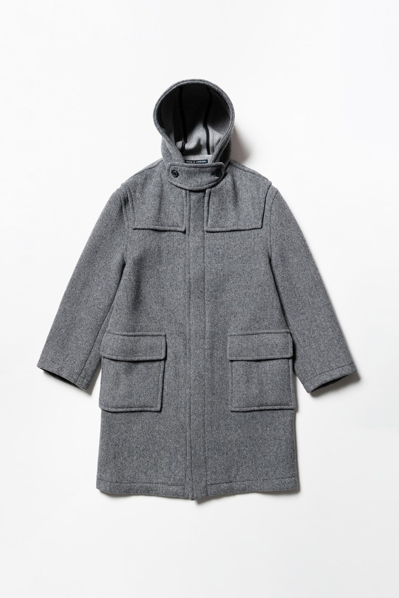 "LONDON TRADITION Classic Fit Hood Coat ""Mid Grey Mix"""