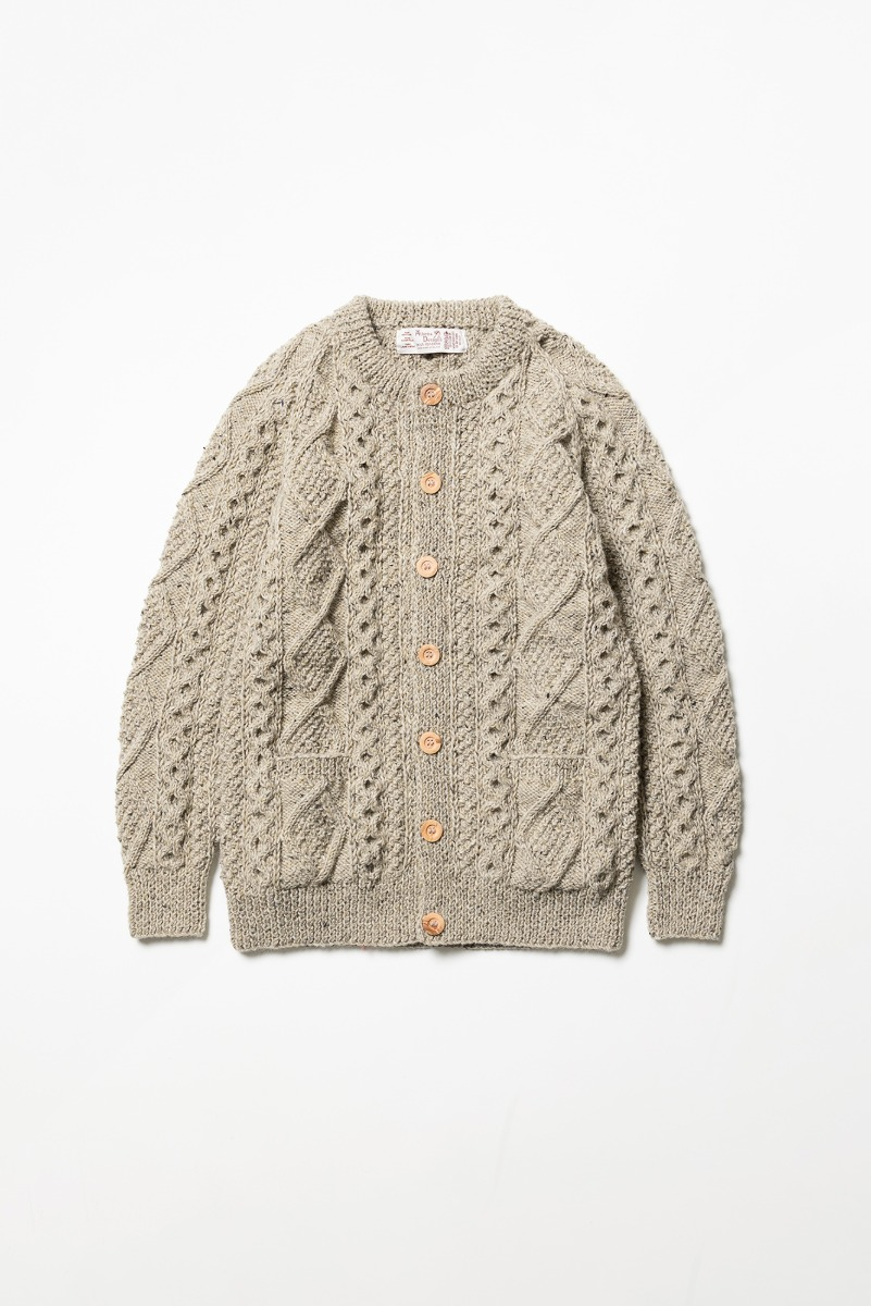 "ATHENA DESIGNS 2S Crewneck Cardigan ""Beige Mix"""