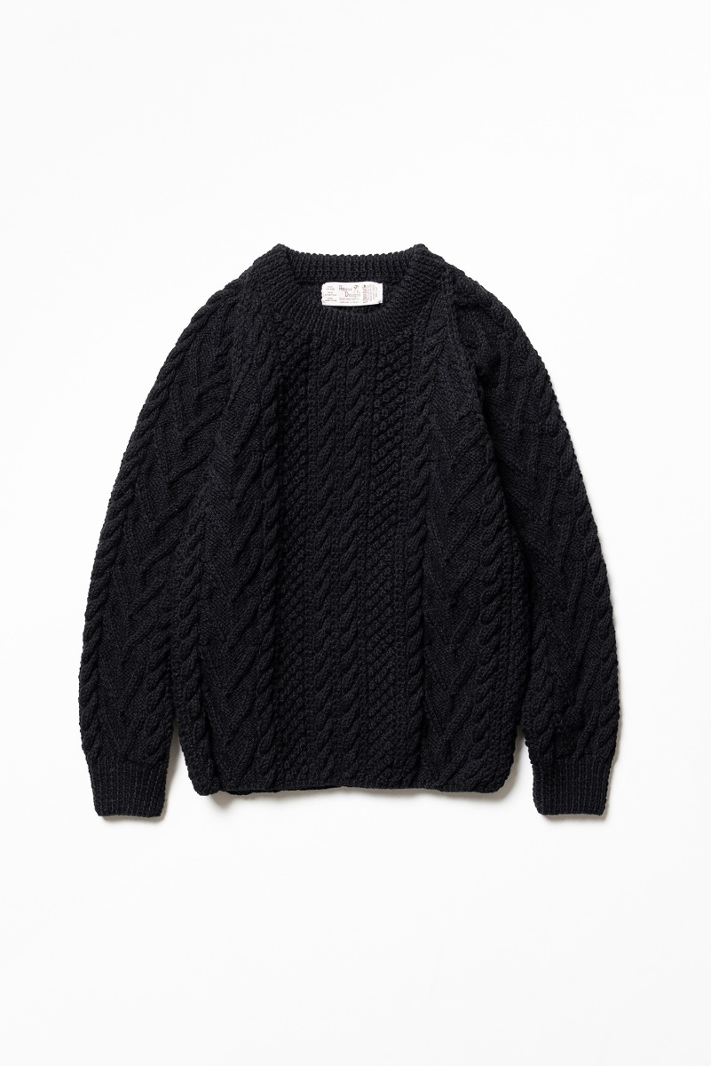 "ATHENA DESIGNS Cable Knit Sweater ""Black"""