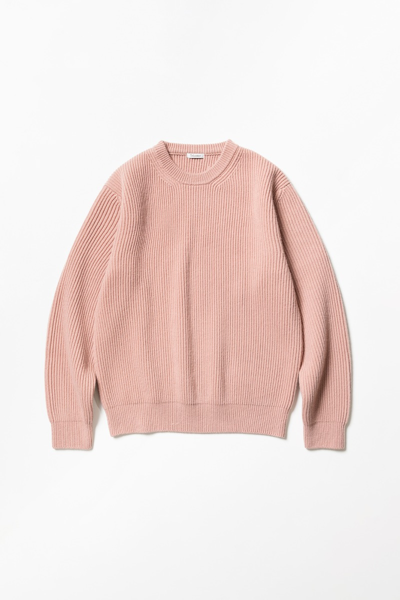 "TRICOTER Chunky Ribbed Full Sweater ""Matt Rose"""
