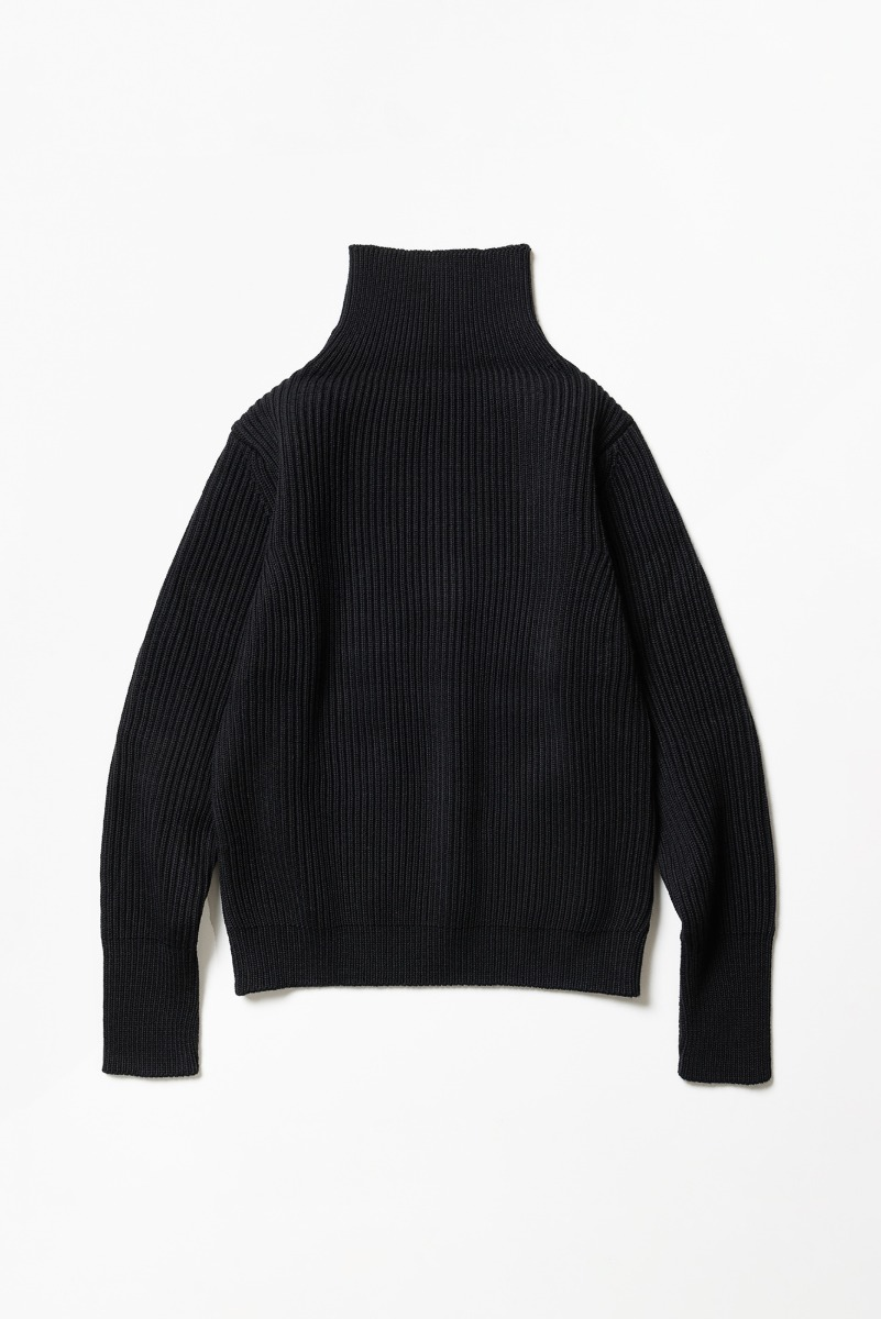 "ANDERSEN-ANDERSEN Navy Turtleneck ""Black"""