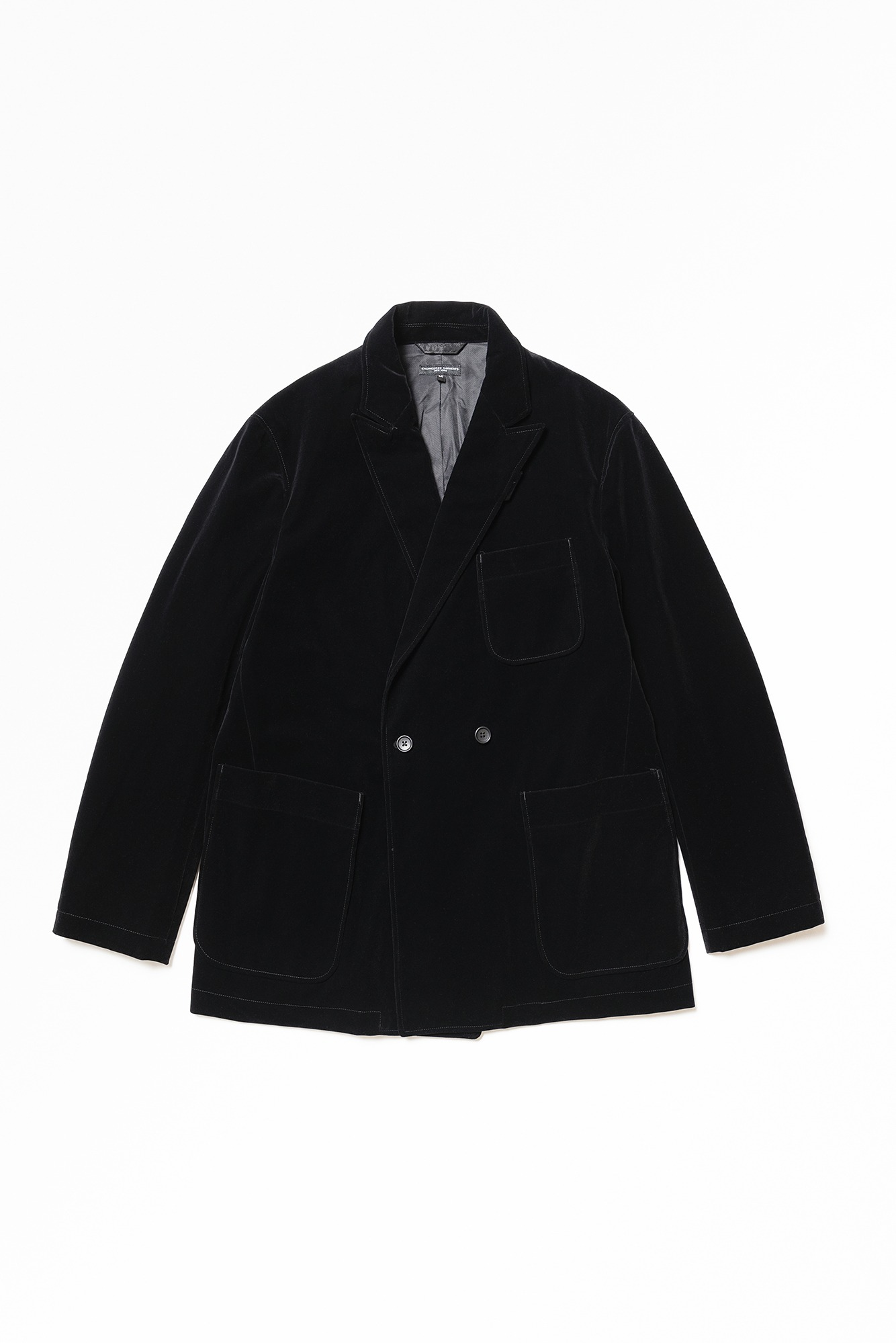 "ENGINEERED GARMENTS Newport Jacket ""Black Flocked Velveteen"""